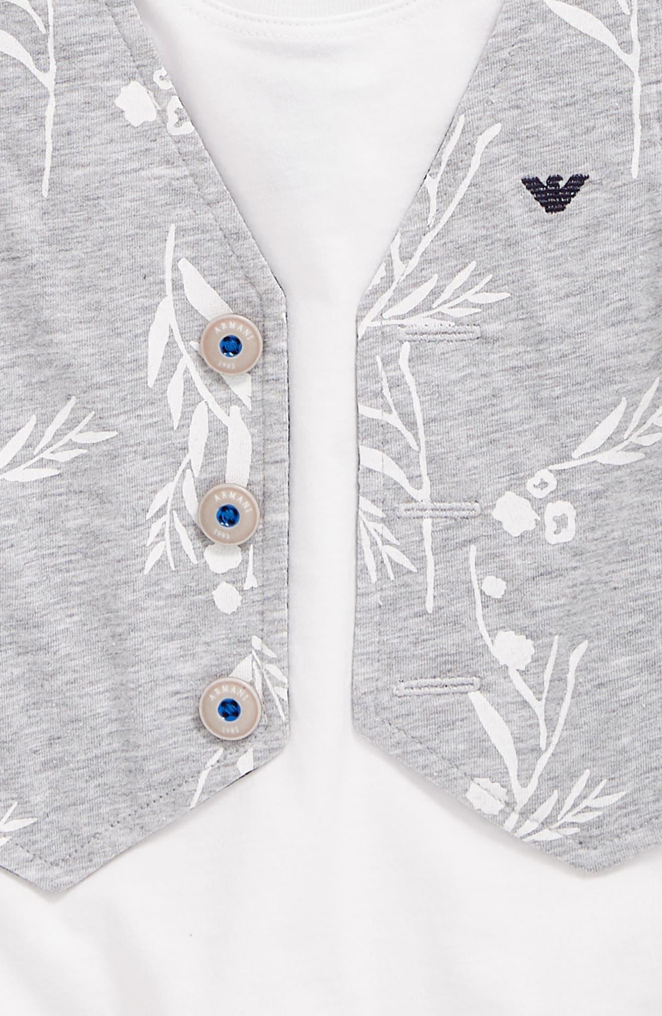 Faux Vest T-Shirt,                             Alternate thumbnail 2, color,                             Grey