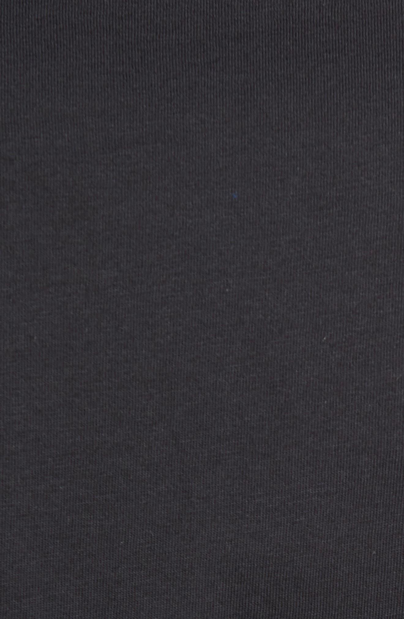Trefoil Graphic T-Shirt,                             Alternate thumbnail 5, color,                             Black