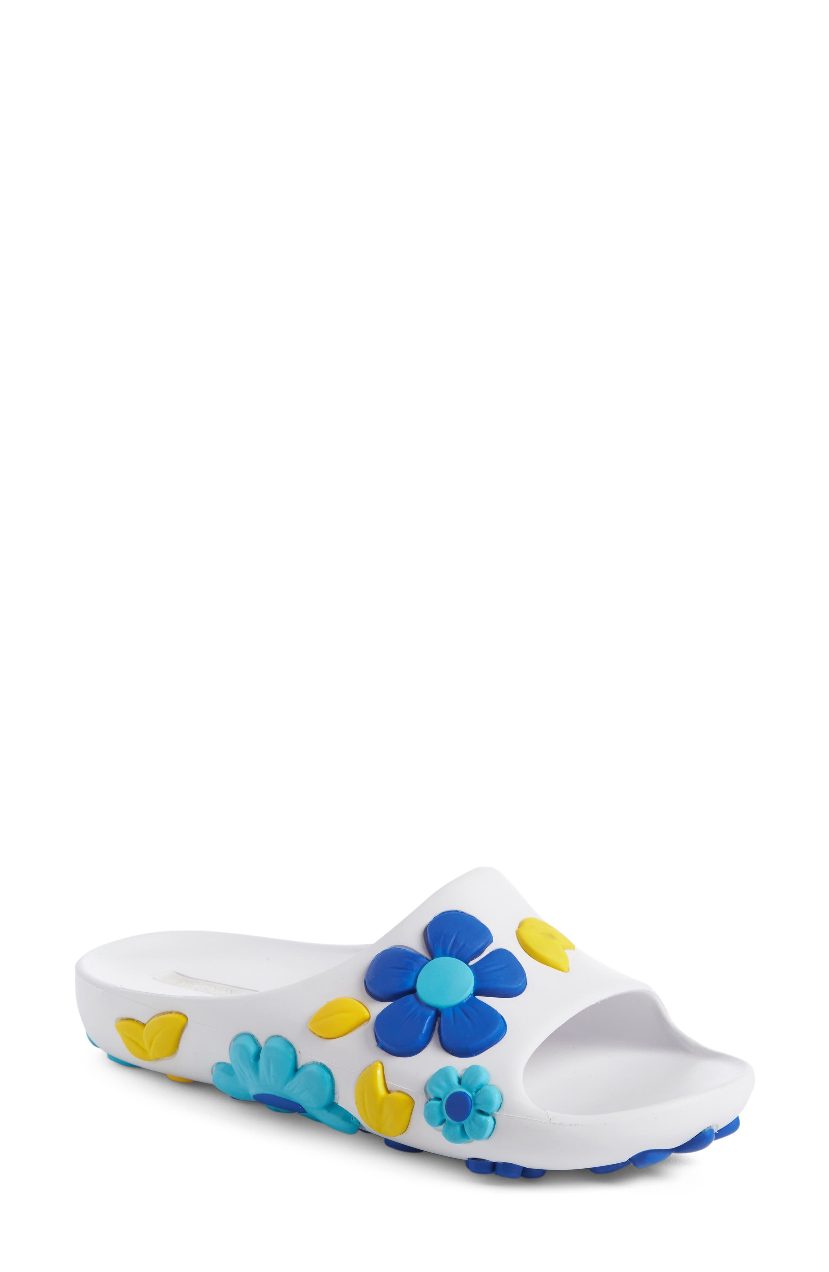 cheap factory outlet Prada Floral Slide Sandals genuine clearance buy H5NYYvdCL