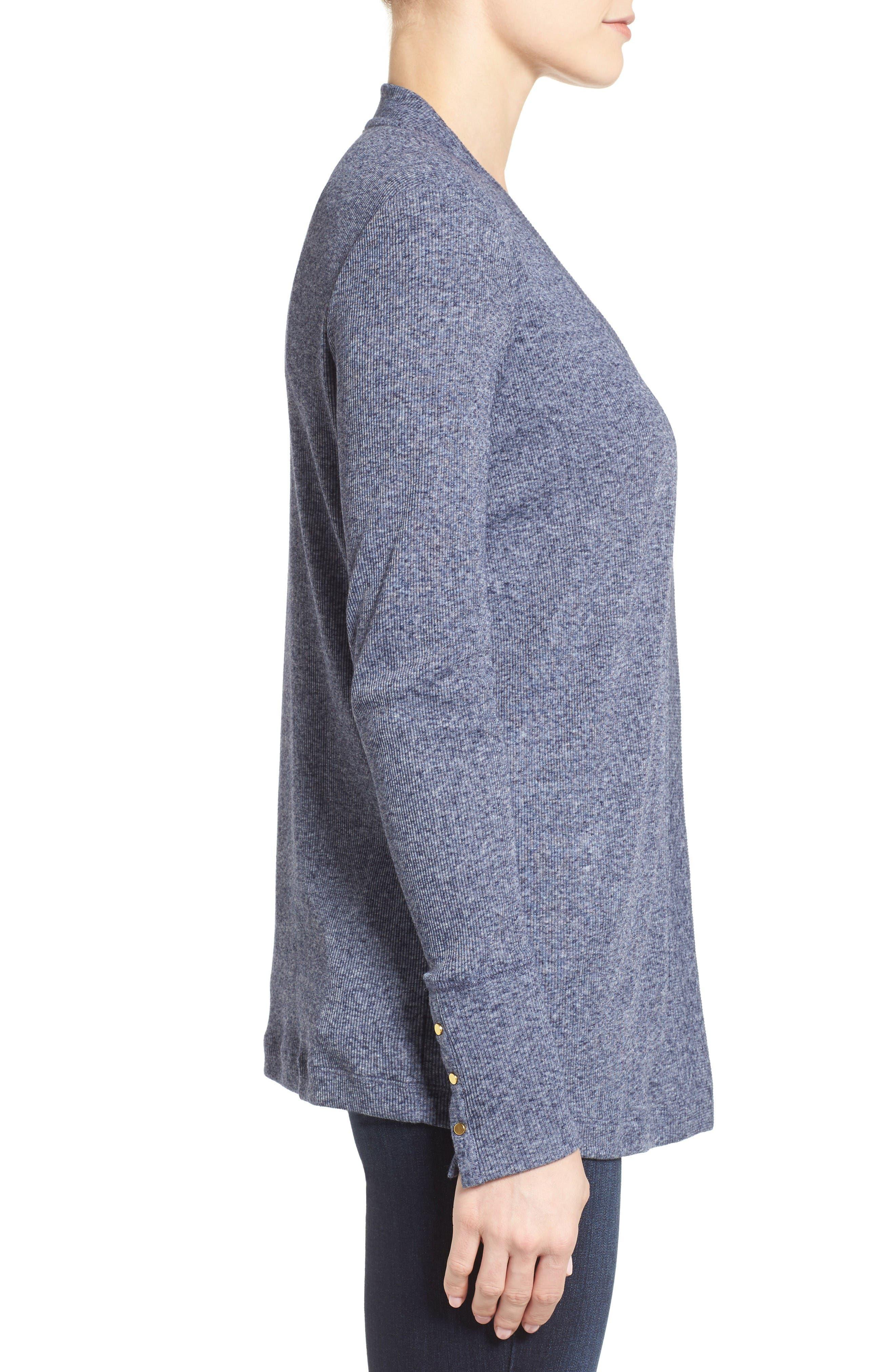 Alternate Image 3  - MICHAEL Michael Kors Snap Sleeve Cardigan