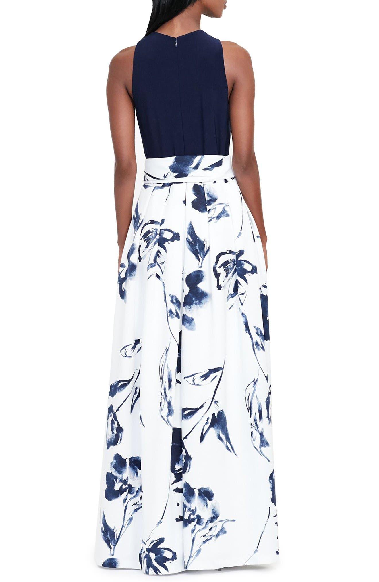 Alternate Image 2  - Lauren Ralph Lauren Fit & Flare Gown