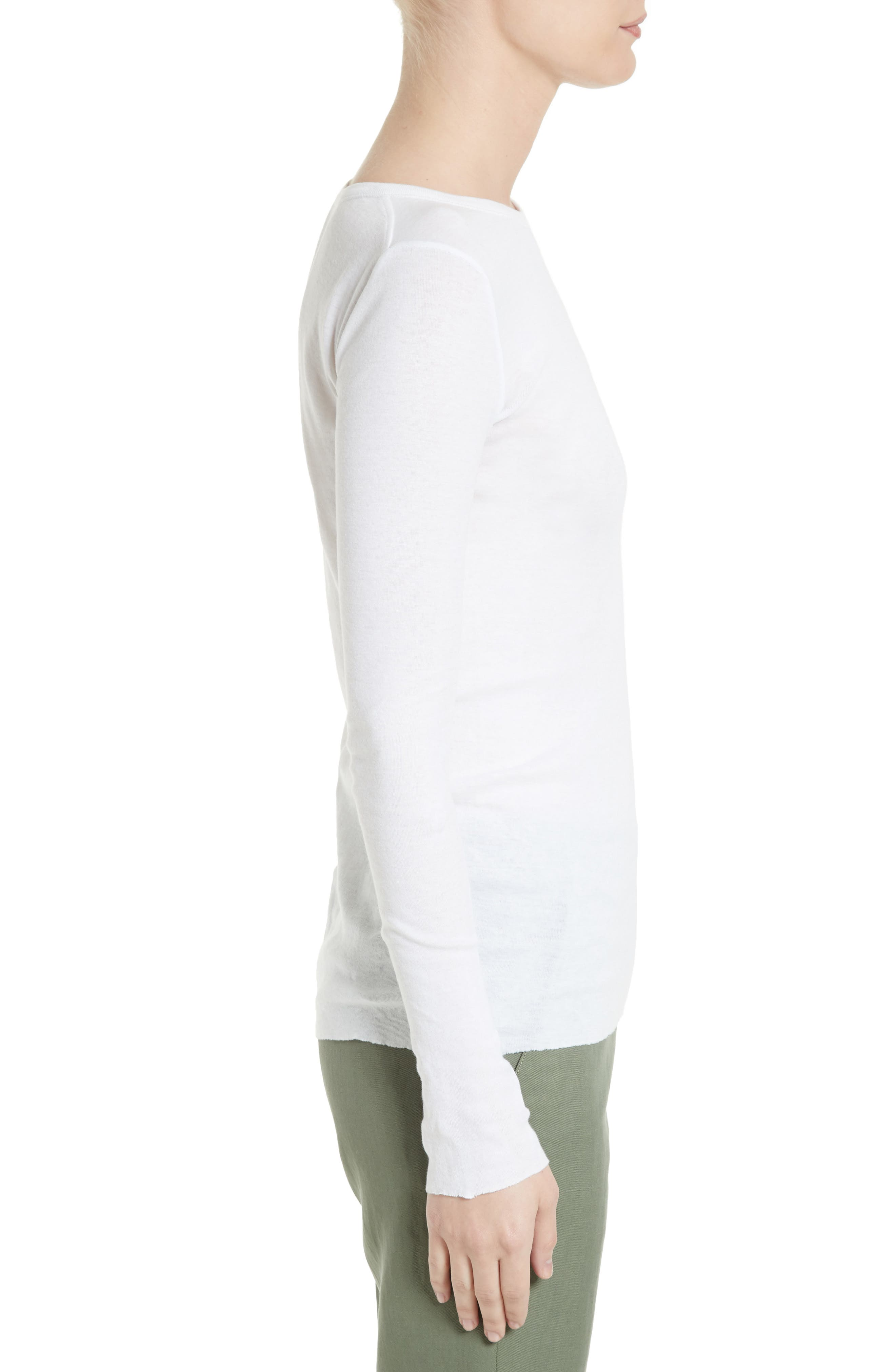 Pima Cotton Tee,                             Alternate thumbnail 3, color,                             White