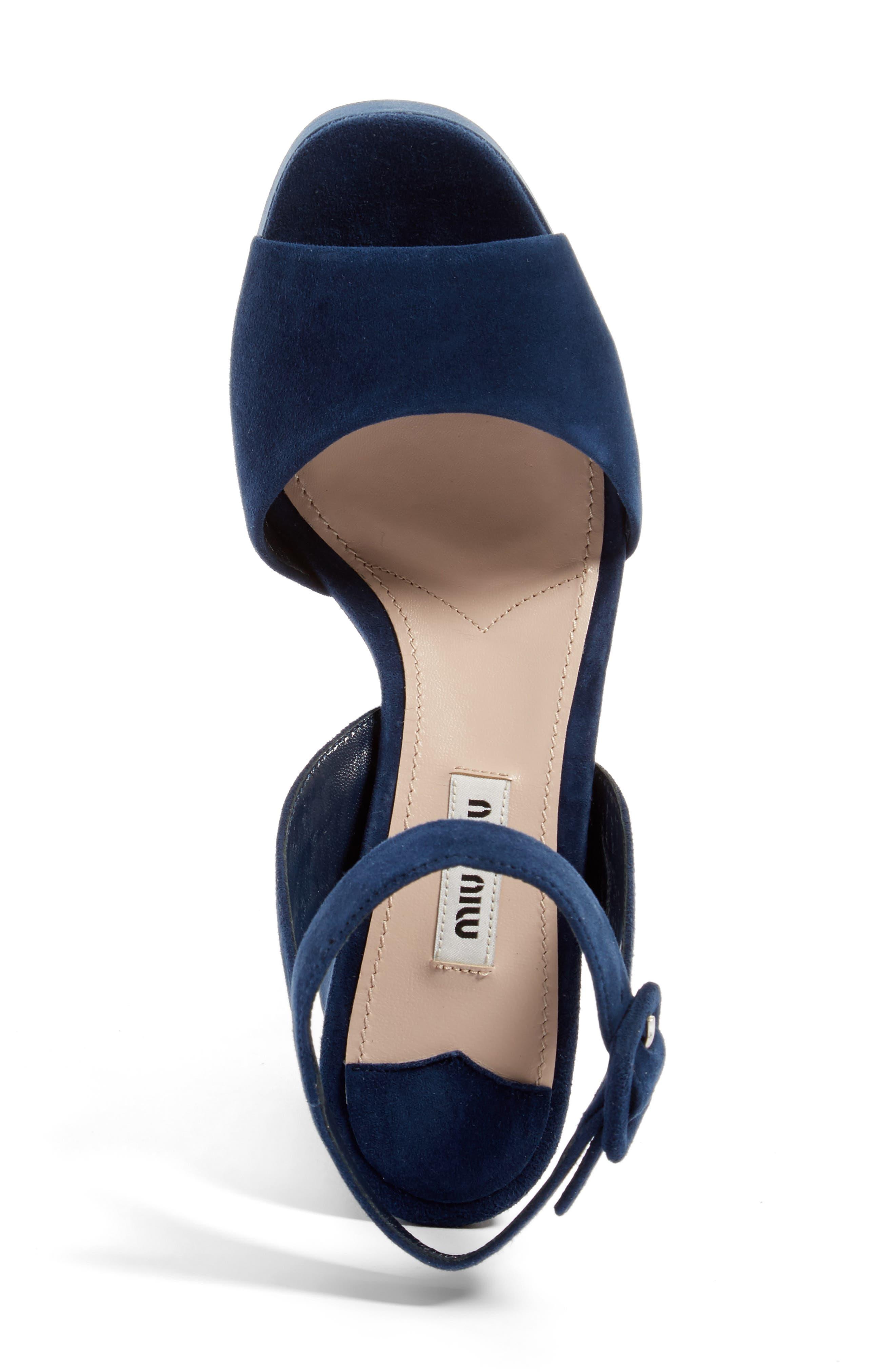 Alternate Image 3  - Miu Miu Platform Strap Sandal (Women)