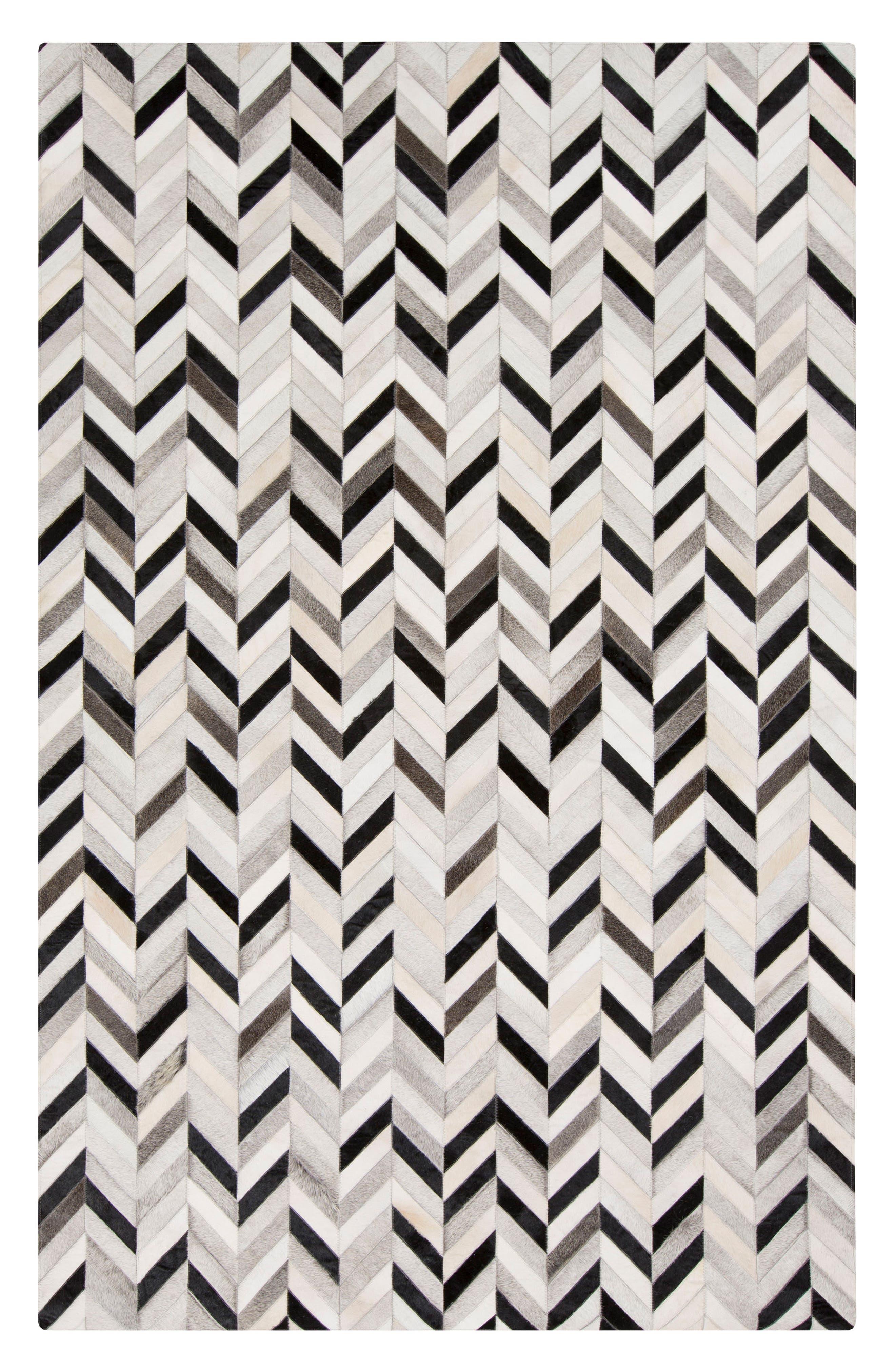 Alternate Image 1 Selected - Surya Home Outback Dash Calf Hair Rug