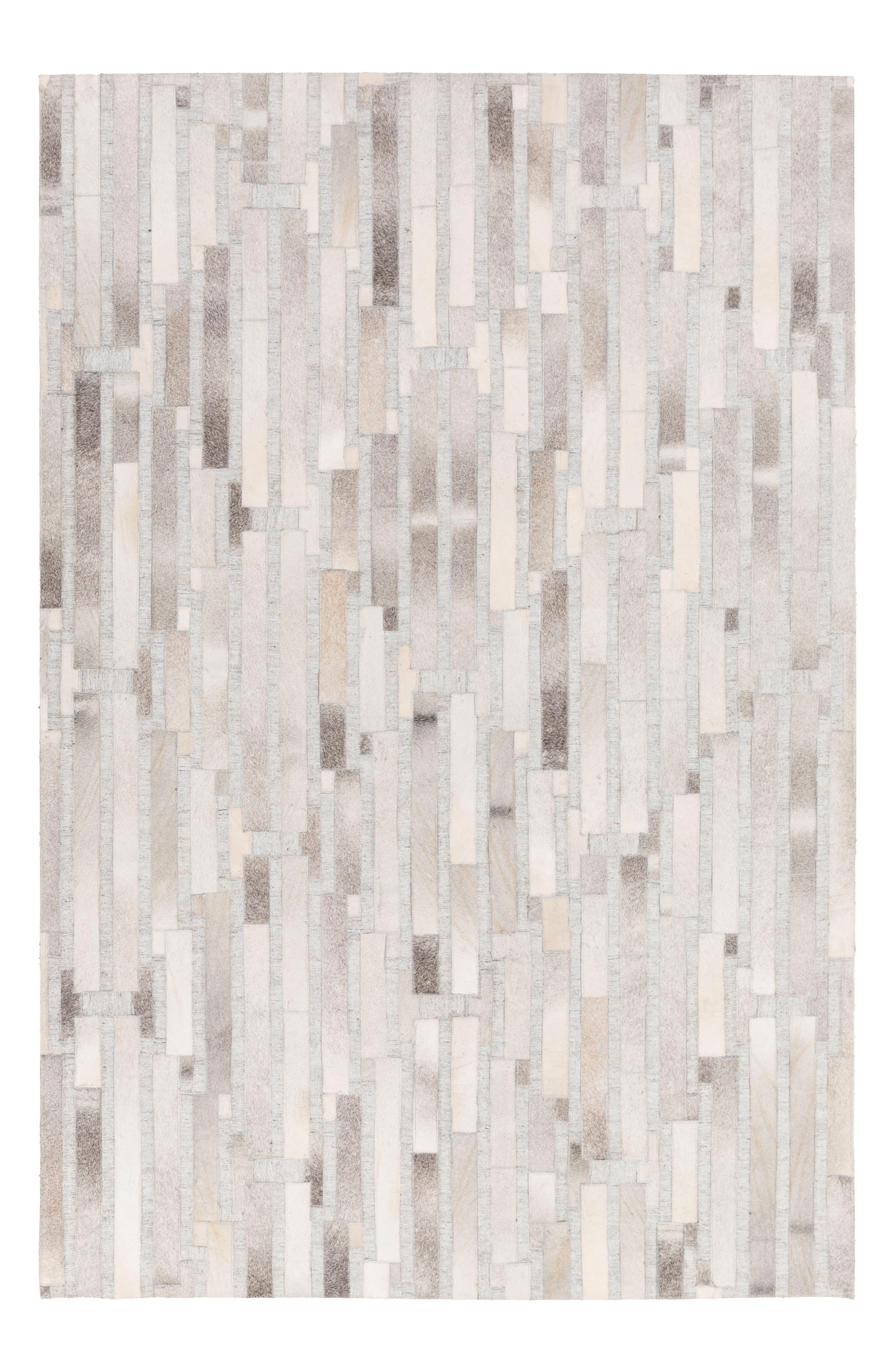 Medora Bark Hand Stitched Rug,                         Main,                         color, Grey/ Cream