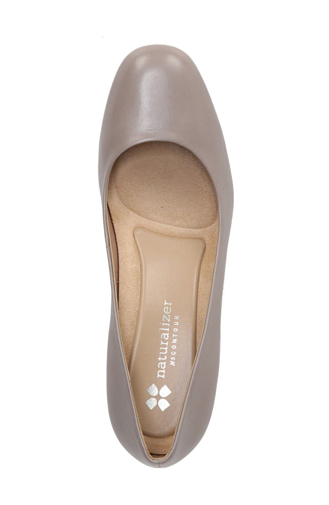 Whitney Pump,                             Alternate thumbnail 3, color,                             Dove Leather