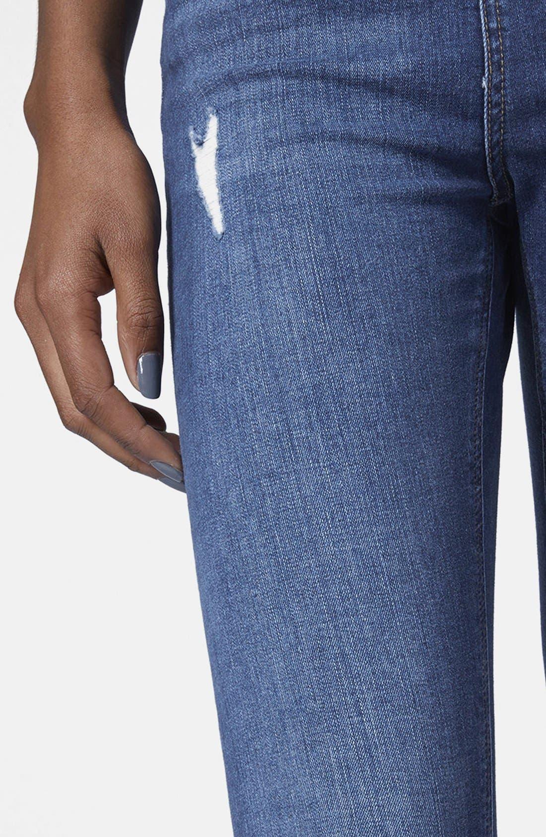Alternate Image 4  - Topshop Moto 'Jamie' High Rise Skinny Jeans (Petite)