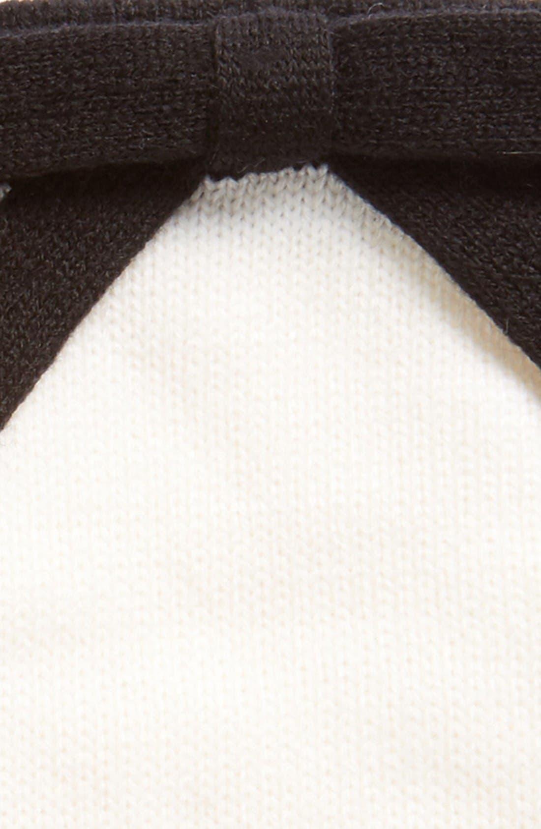 contrast bow tech friendly gloves,                             Alternate thumbnail 3, color,                             Cream/ Black