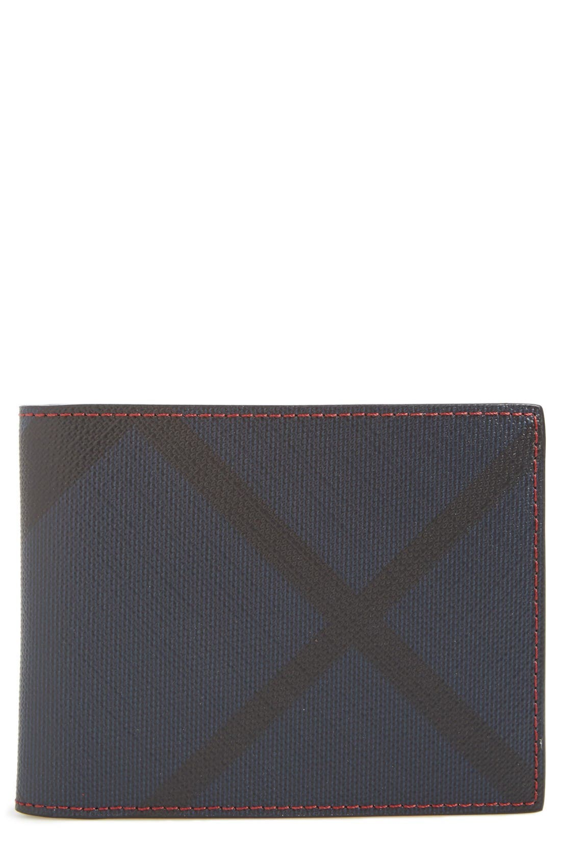 Sandon Wallet,                             Main thumbnail 1, color,                             Parade Red