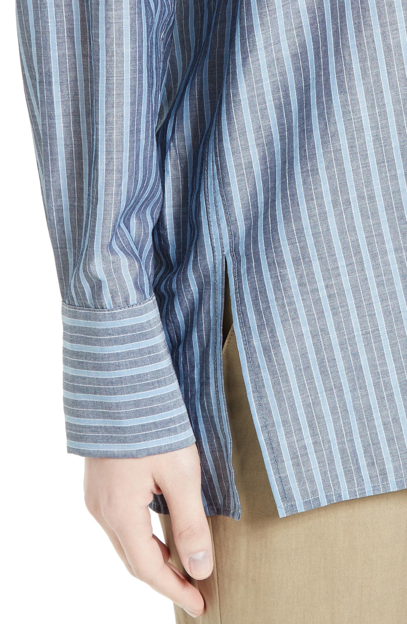 Alternate Image 4  - Vince Stripe Popover Shirt