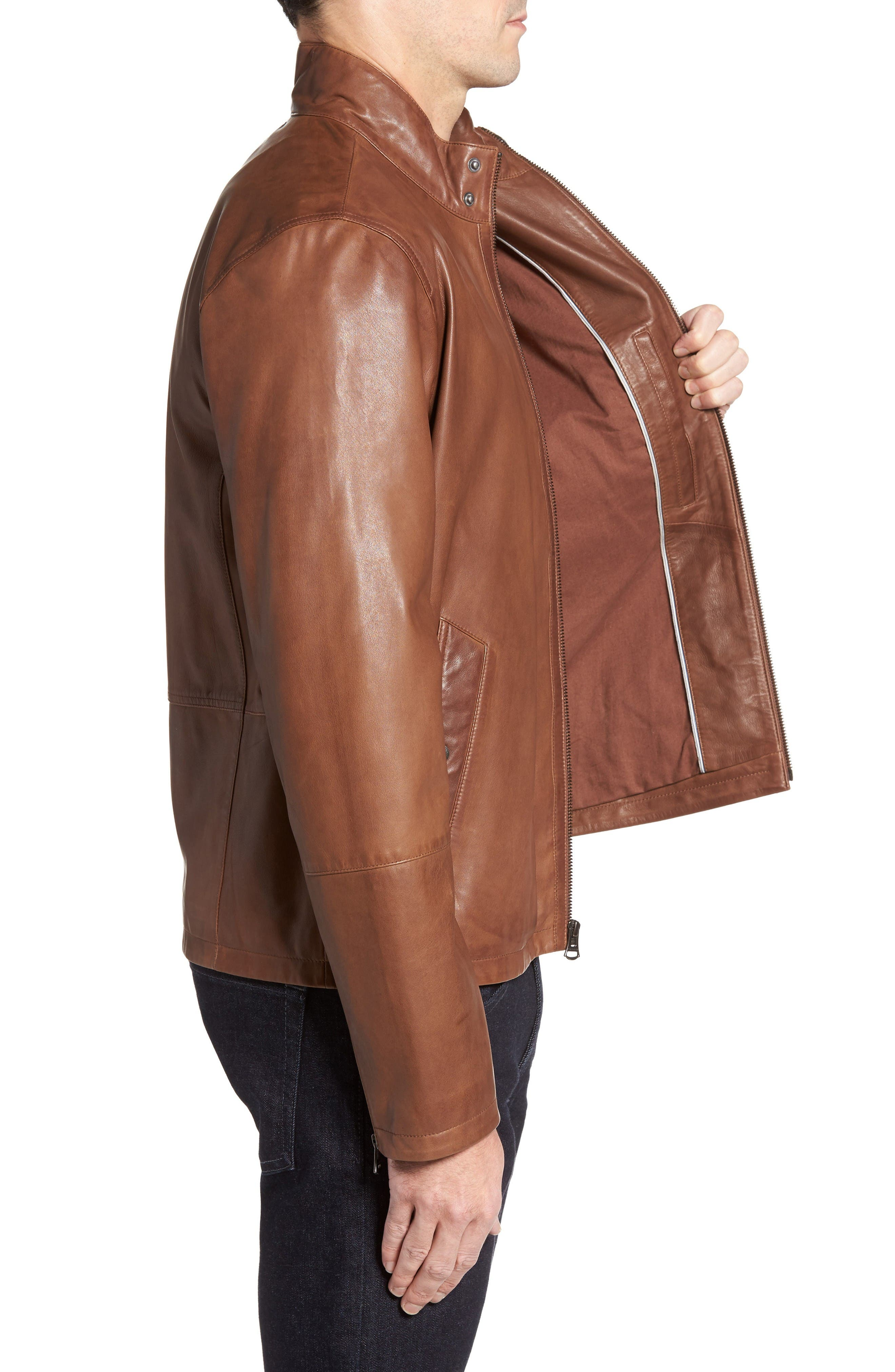 Alternate Image 3  - Cole Haan Lamb Leather Jacket