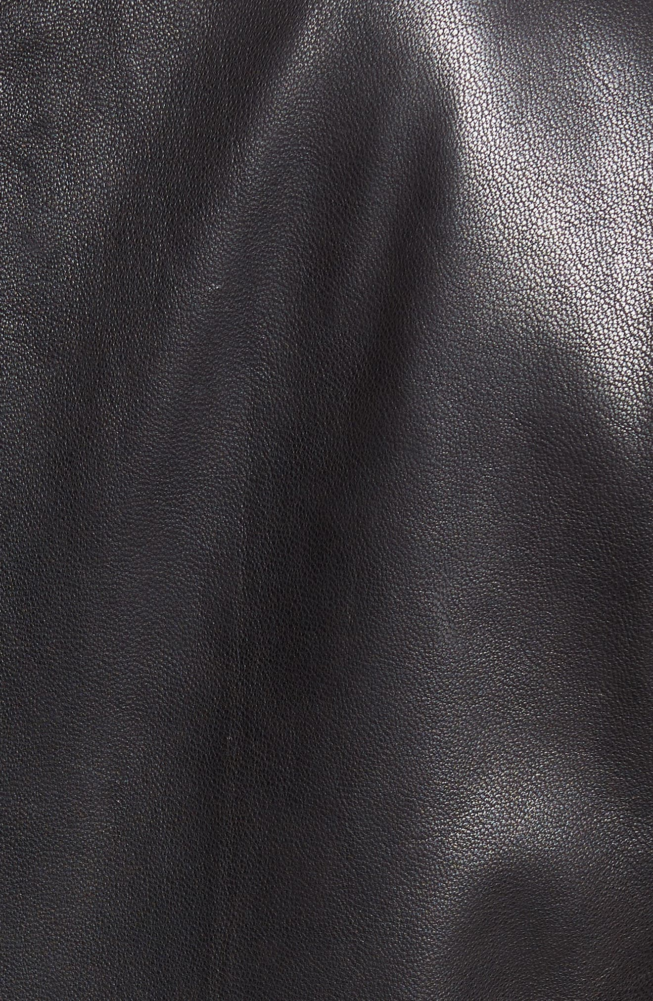 Alternate Image 5  - Cole Haan Washed Leather Moto Jacket