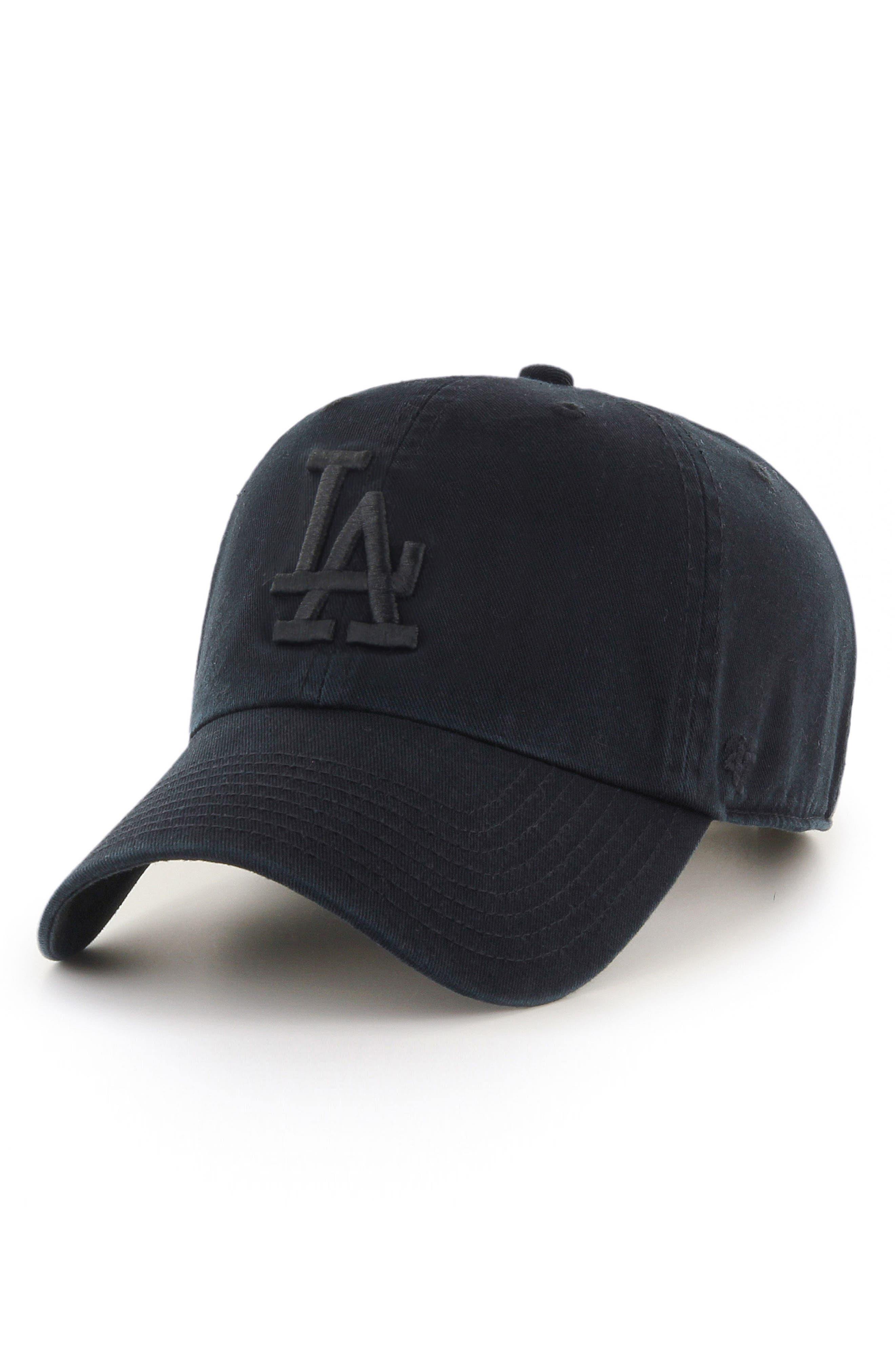 Clean UP LA Dodgers Baseball Cap,                             Main thumbnail 1, color,                             Black