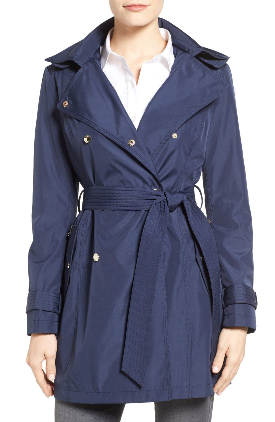 Alternate Image 1 Selected - Jessica Simpson Trench Coat