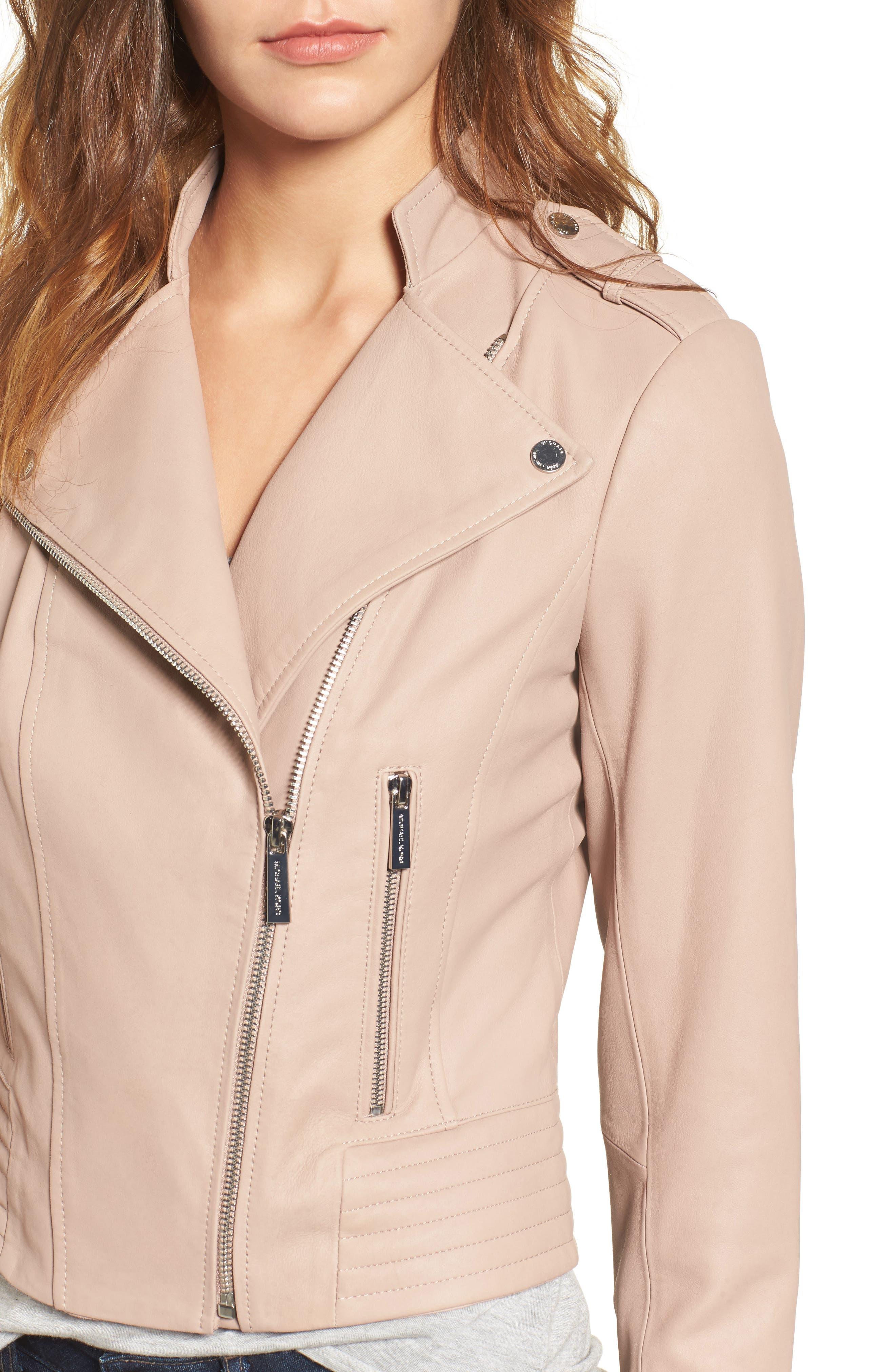 Alternate Image 4  - MICHAEL Michael Kors Leather Moto Jacket