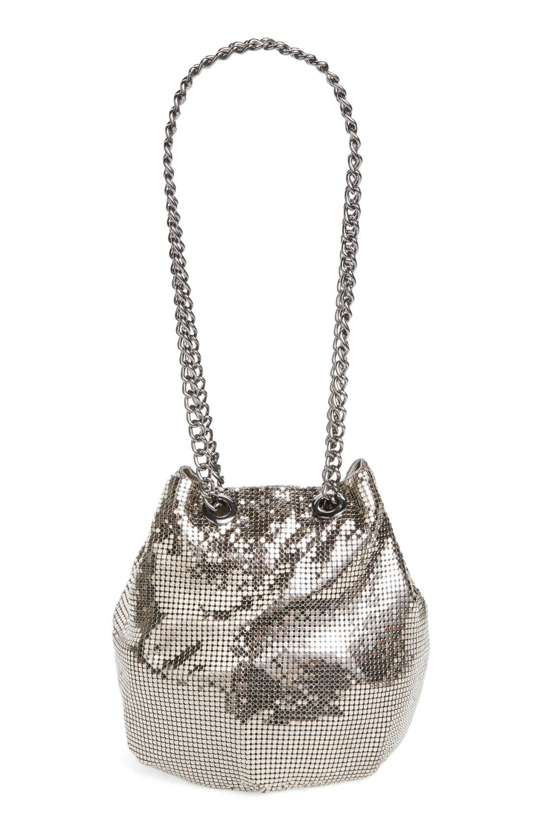 Alternate Image 1 Selected - Whiting & Davis Mesh Bucket Bag