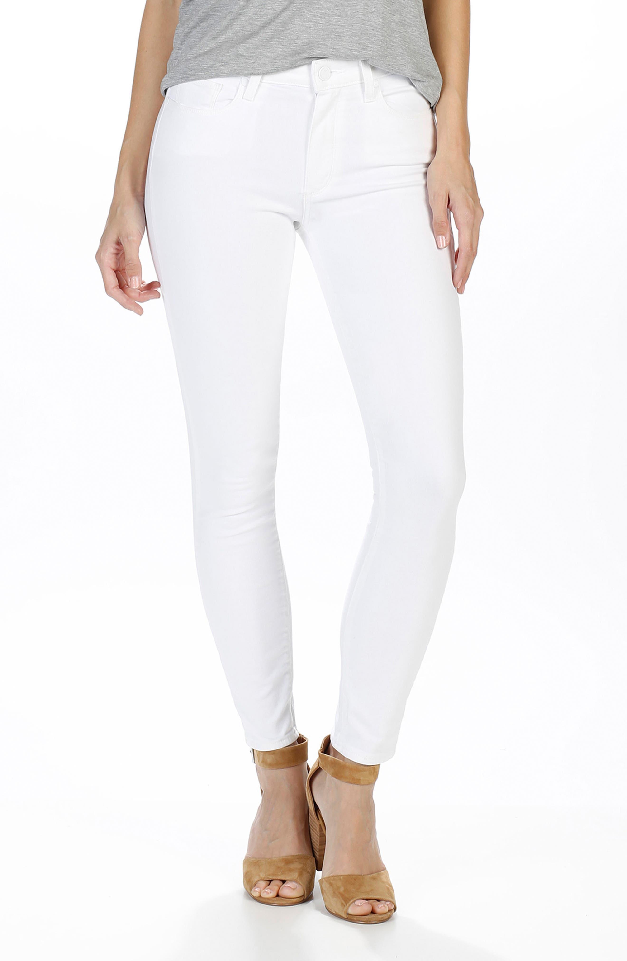 Hoxton High Waist Ankle Skinny Jeans,                             Alternate thumbnail 2, color,                             Optic White