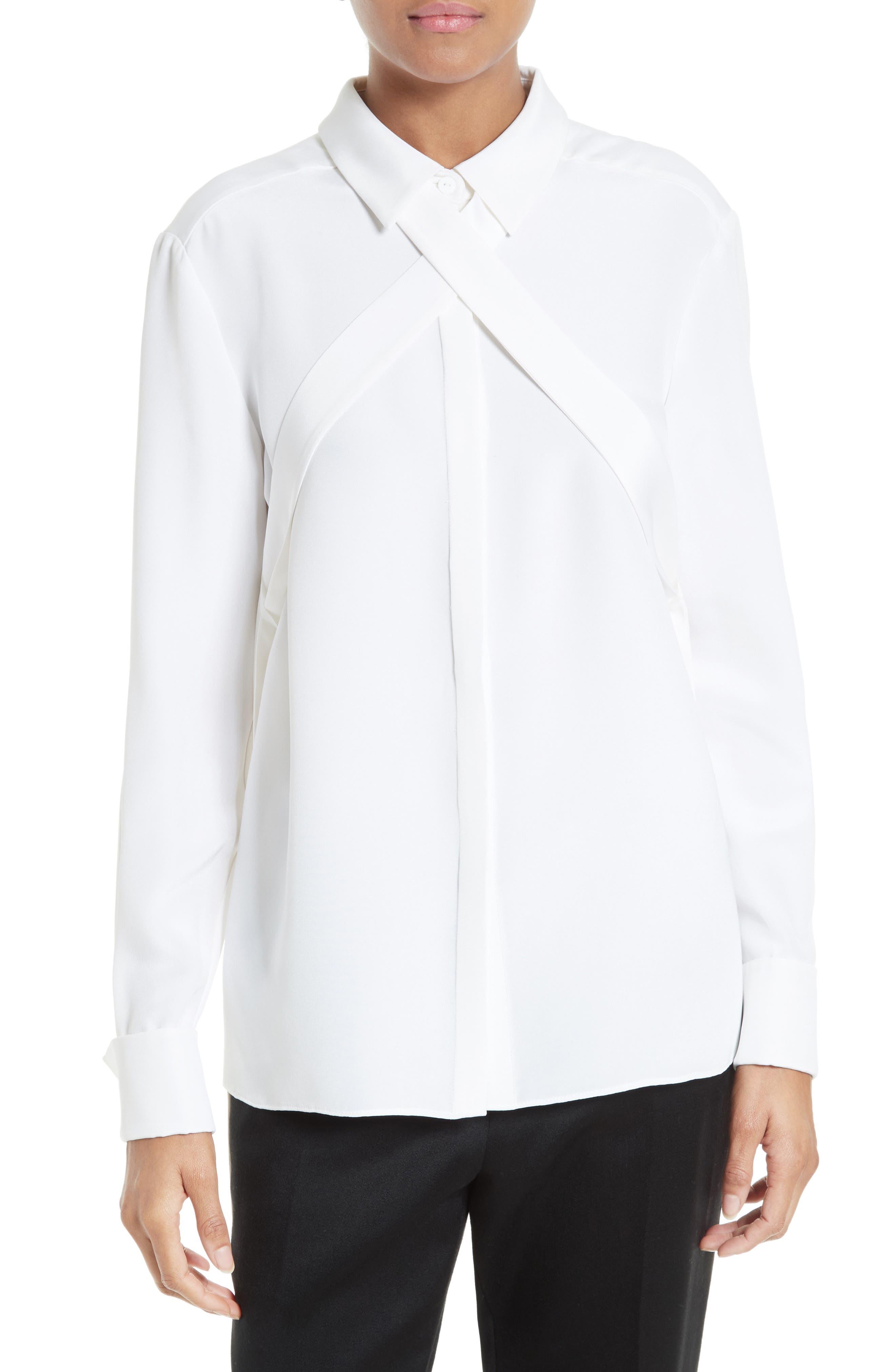 1ca78e913a6361 SHOP: 3.1 Phillip Lim shirt | Topshop blazer | AG jeans | Gucci loafer ...
