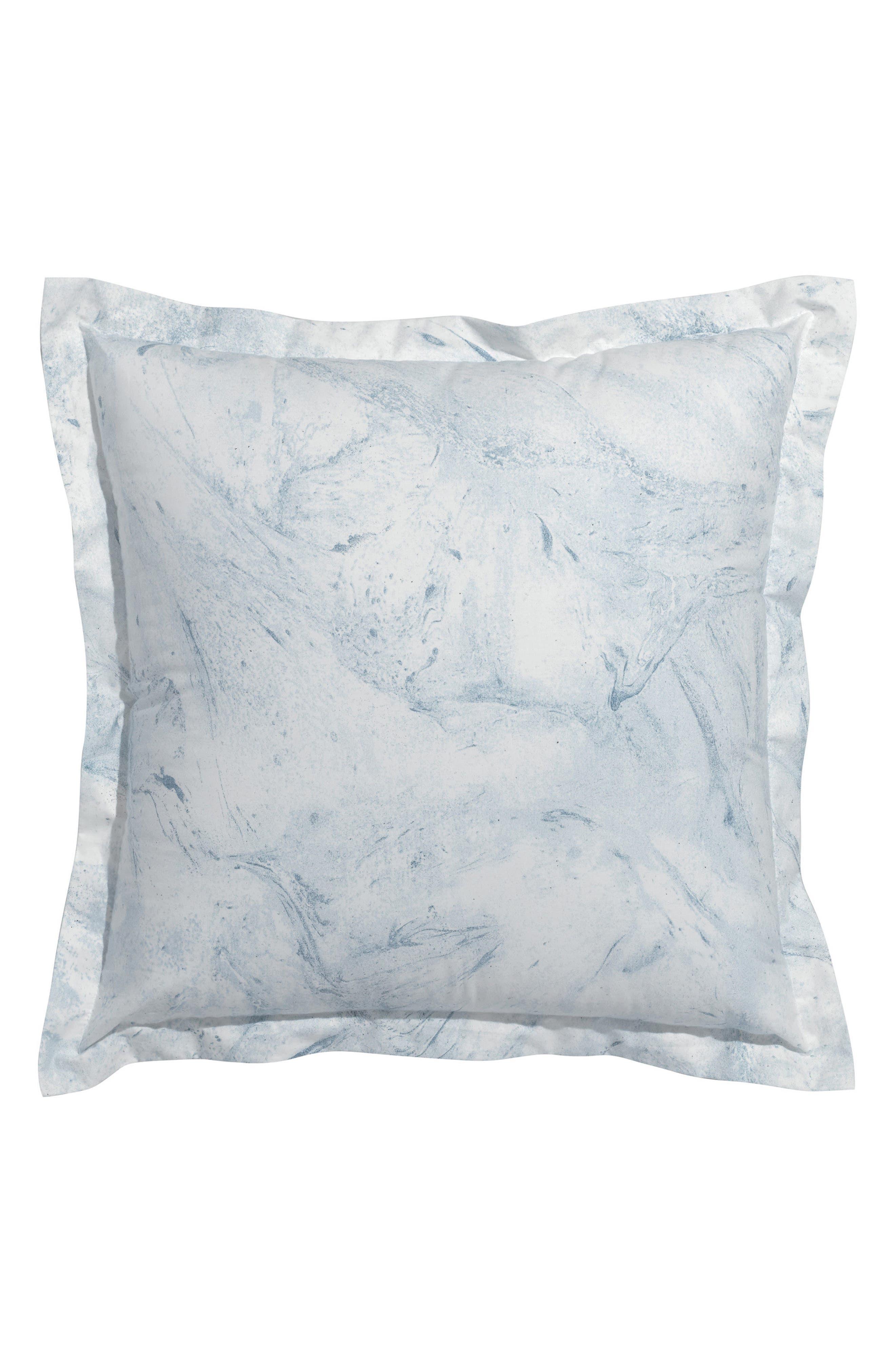 Glacier Bay Square Organic Cotton Accent Pillow,                         Main,                         color, Blue/ Multi