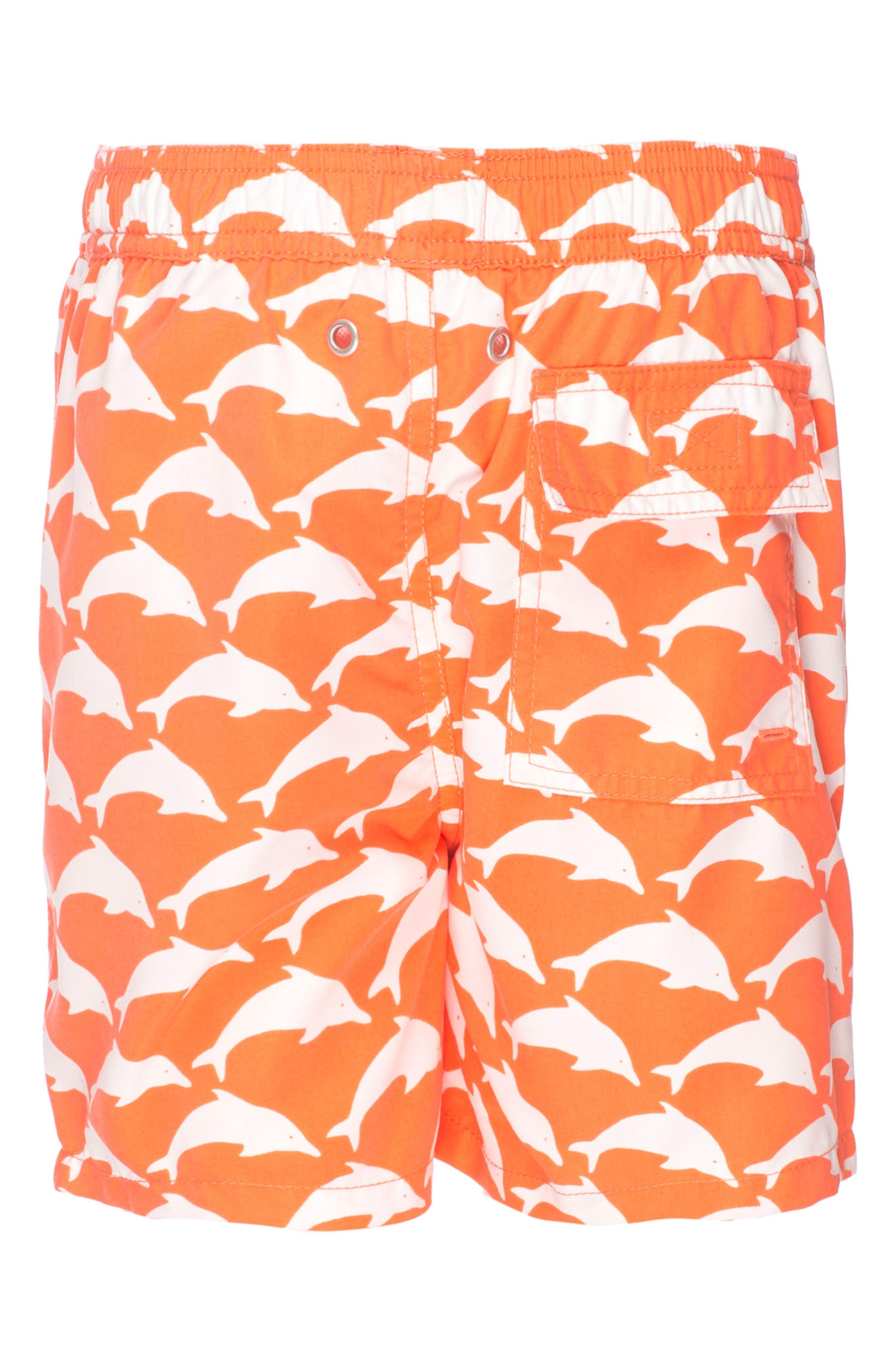 Alternate Image 5  - Tom & Teddy Dolphin Swim Trunks (Toddler Boys, Little Boys & Big Boys)