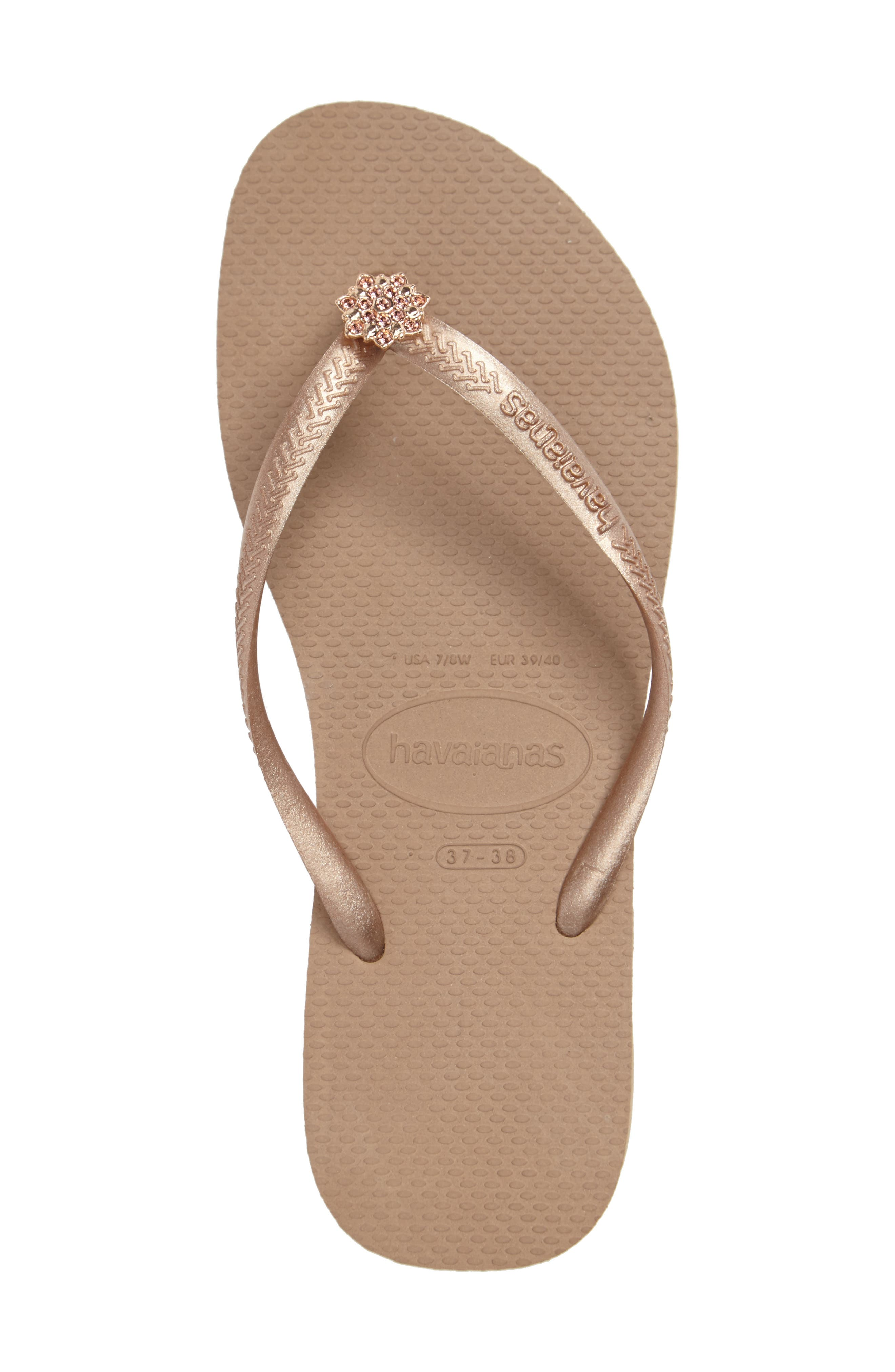 Alternate Image 3  - Havaianas Slim Crystal Poem Flip Flop