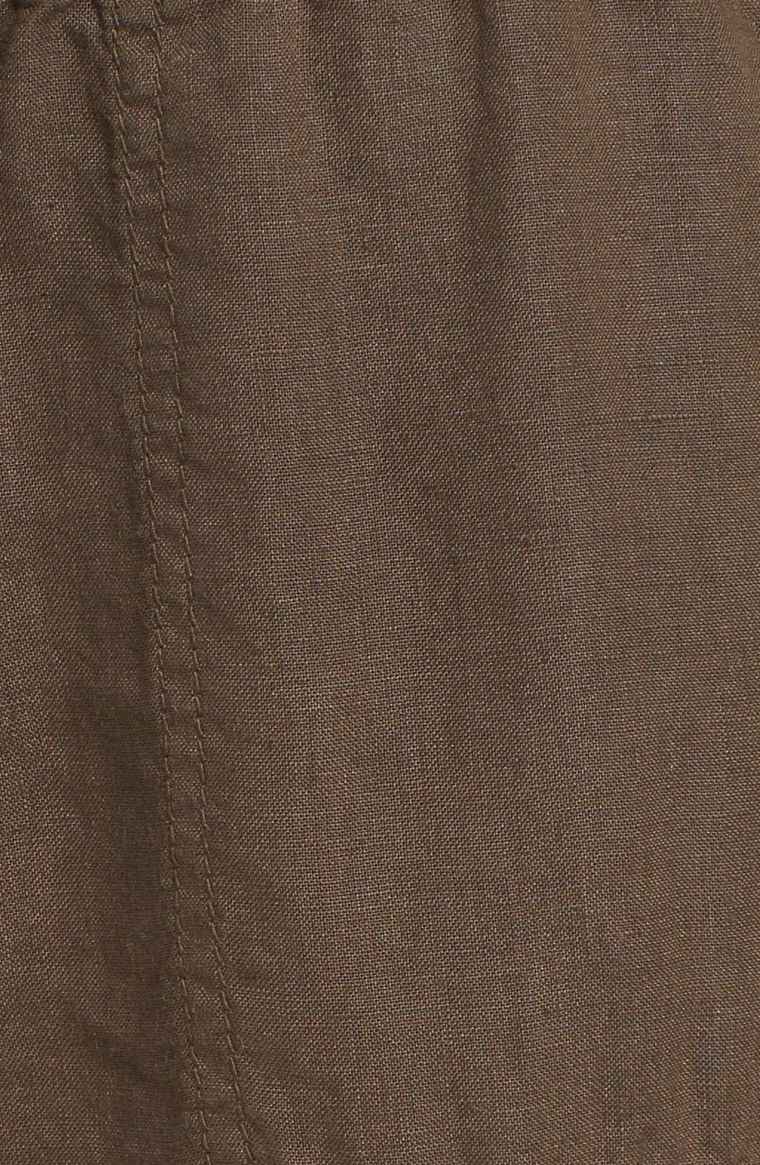Alternate Image 6  - Caslon® Crop Linen Joggers (Regular & Petite)