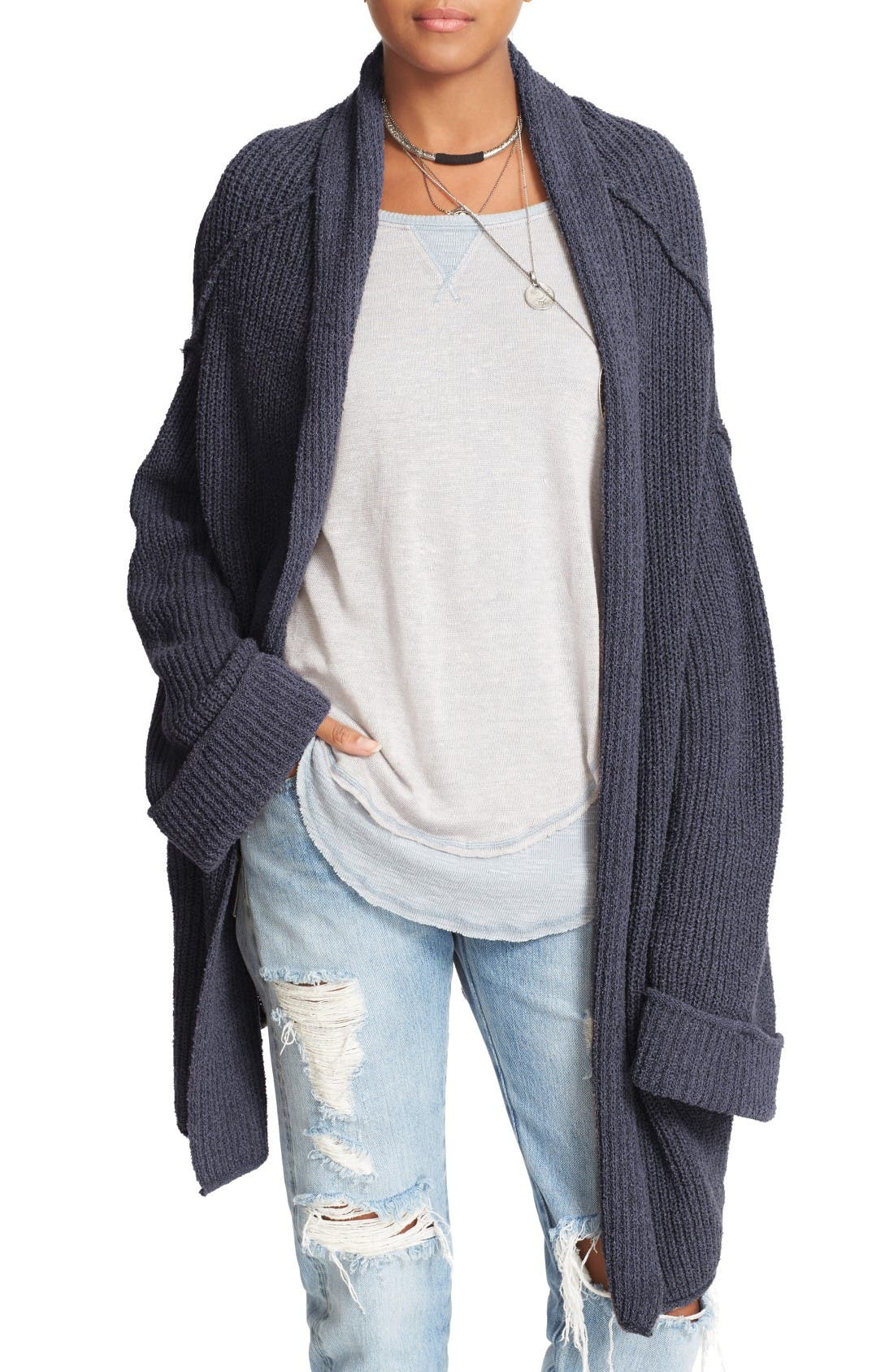 Alternate Image 1 Selected - Free People Low Tide Cardigan