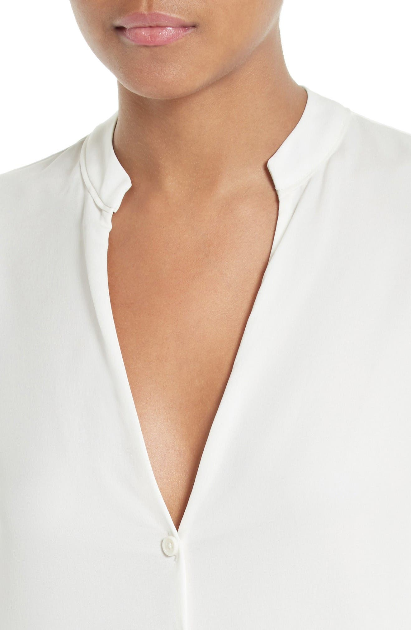 Alternate Image 4  - Diane von Furstenberg Stretch Silk V-Neck Blouse