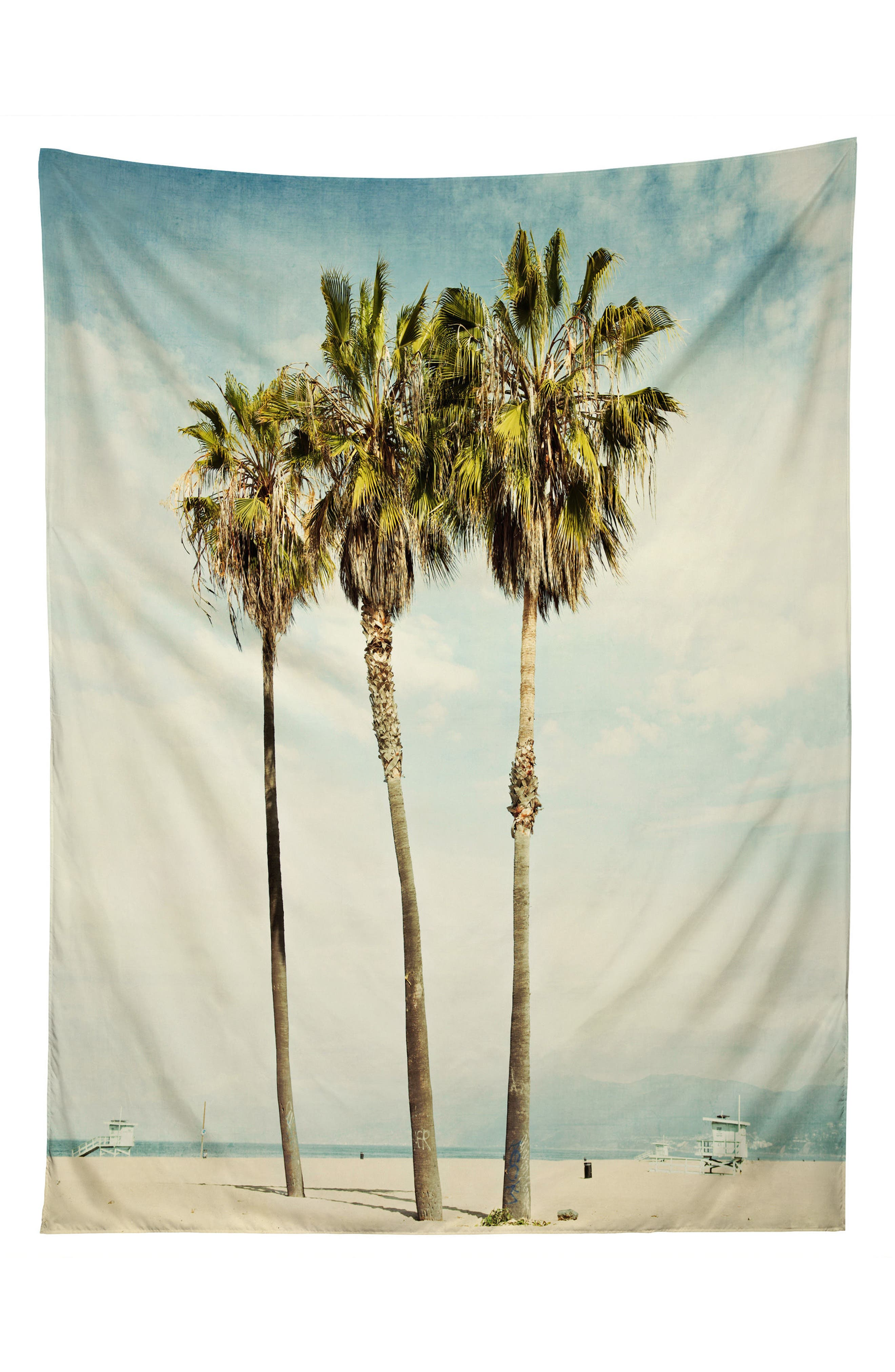 Venice Beach Palms Tapestry,                             Main thumbnail 1, color,                             Green/ Multi
