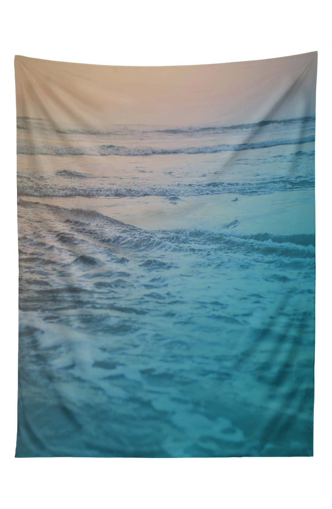 Cotton Candy Waves Tapestry,                             Main thumbnail 1, color,                             Blue/ Mutli