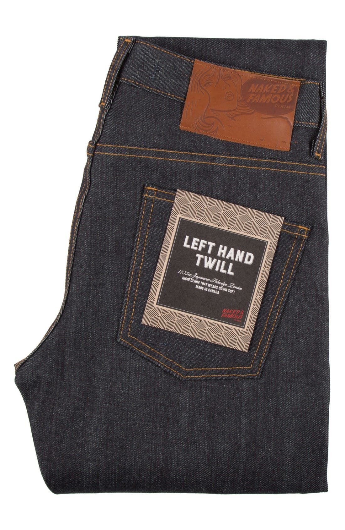 Alternate Image 9  - Naked & Famous Denim Super Skinny Guy Skinny Fit Raw Selvedge Jeans (Left Hand Twill Selvedge)