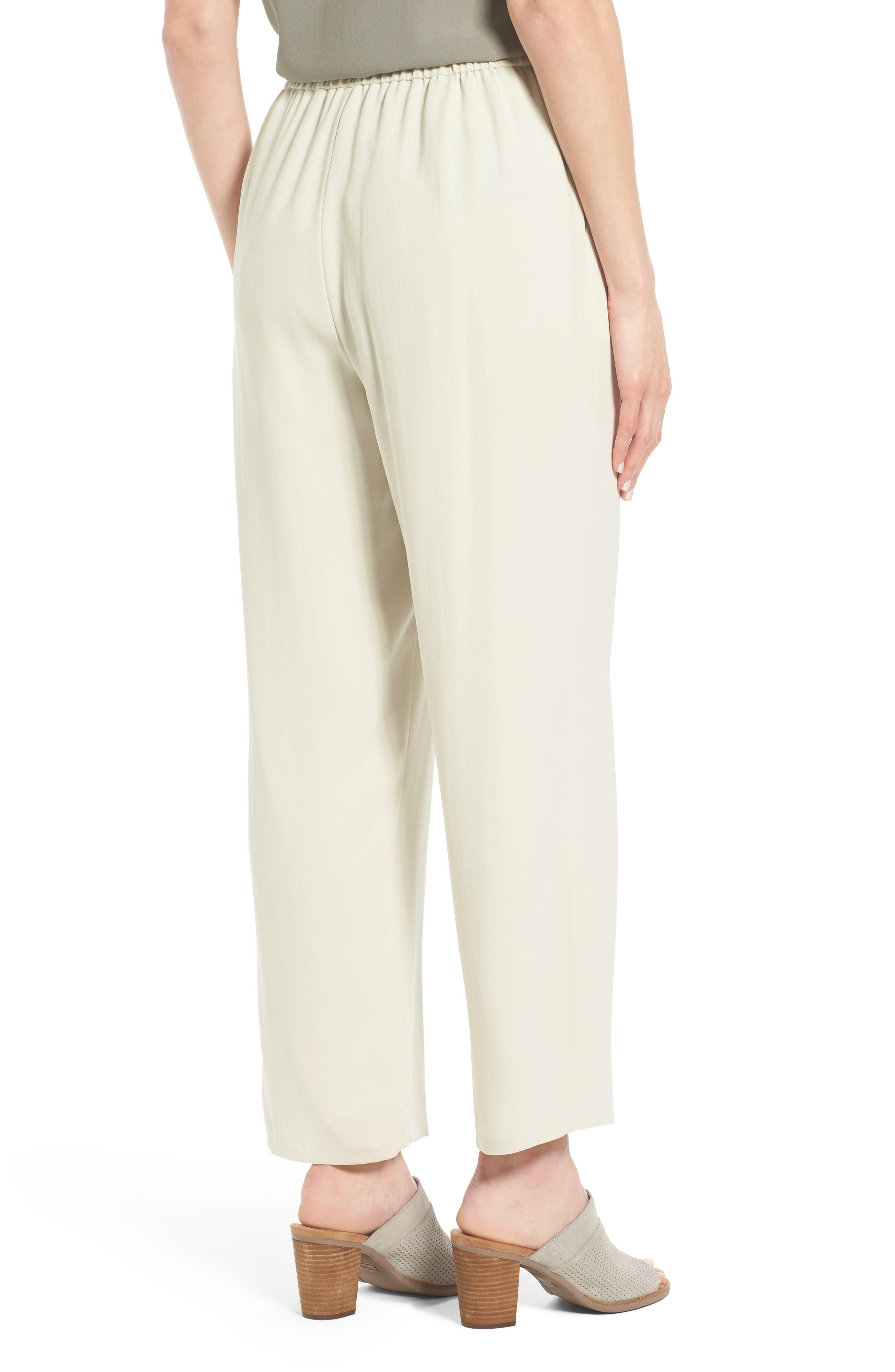 Alternate Image 2  - Eileen Fisher Silk Georgette Crepe Straight Ankle Pants (Regular & Petite)