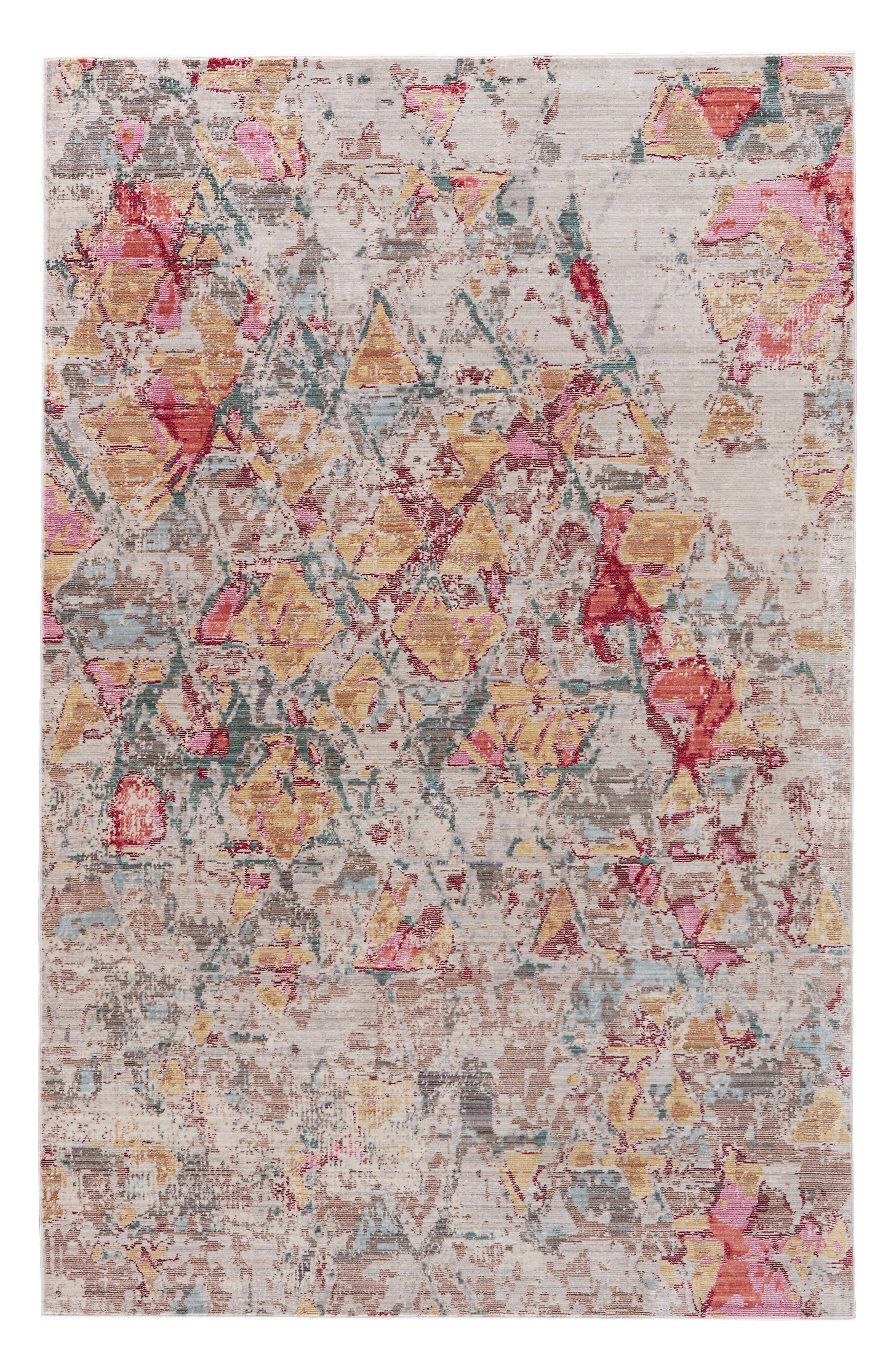 Contemporary Chateau Rug,                         Main,                         color, Pink/ Grey
