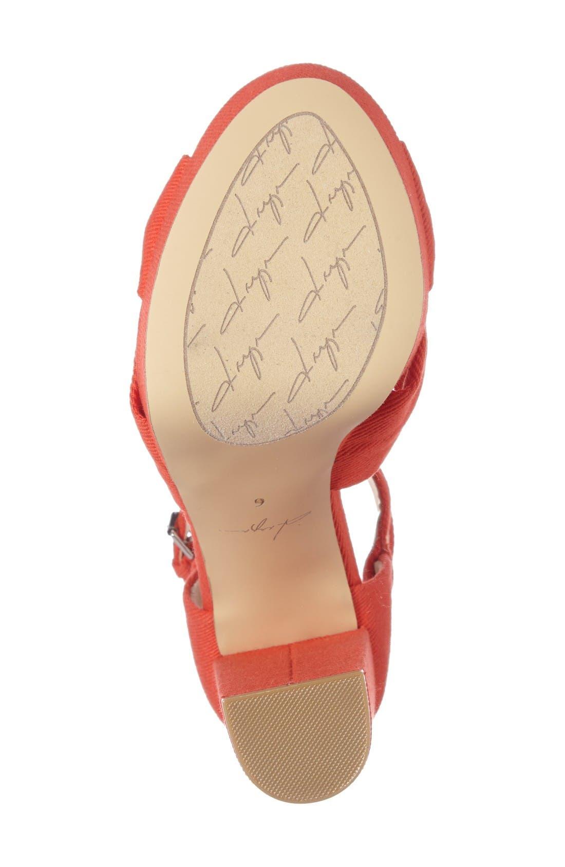 by Zendaya Mission Ankle Wrap Platform Pump,                             Alternate thumbnail 4, color,                             Mandarin Red