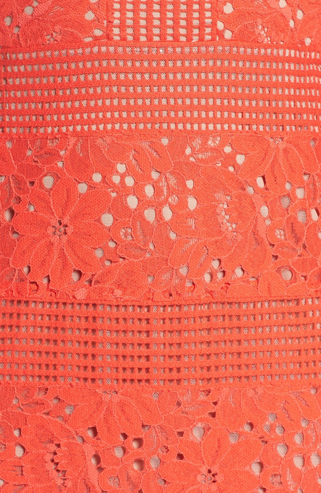 Alternate Image 5  - BCBGMAXAZRIA Merida Open Back Lace Gown