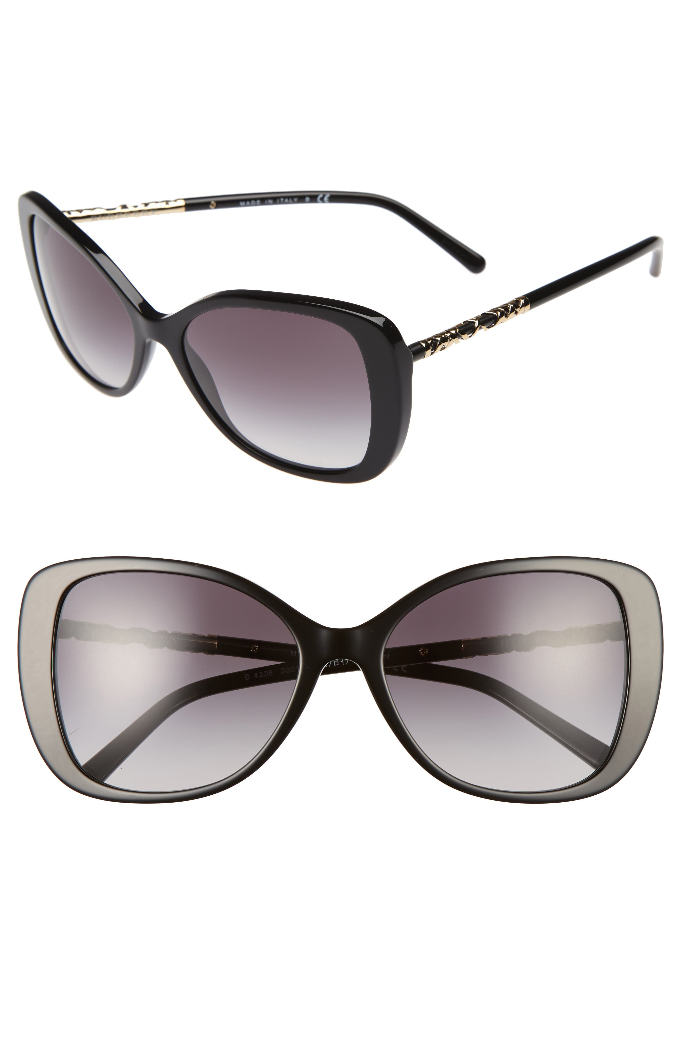 Burberry 57mm Butterfly Sunglasses