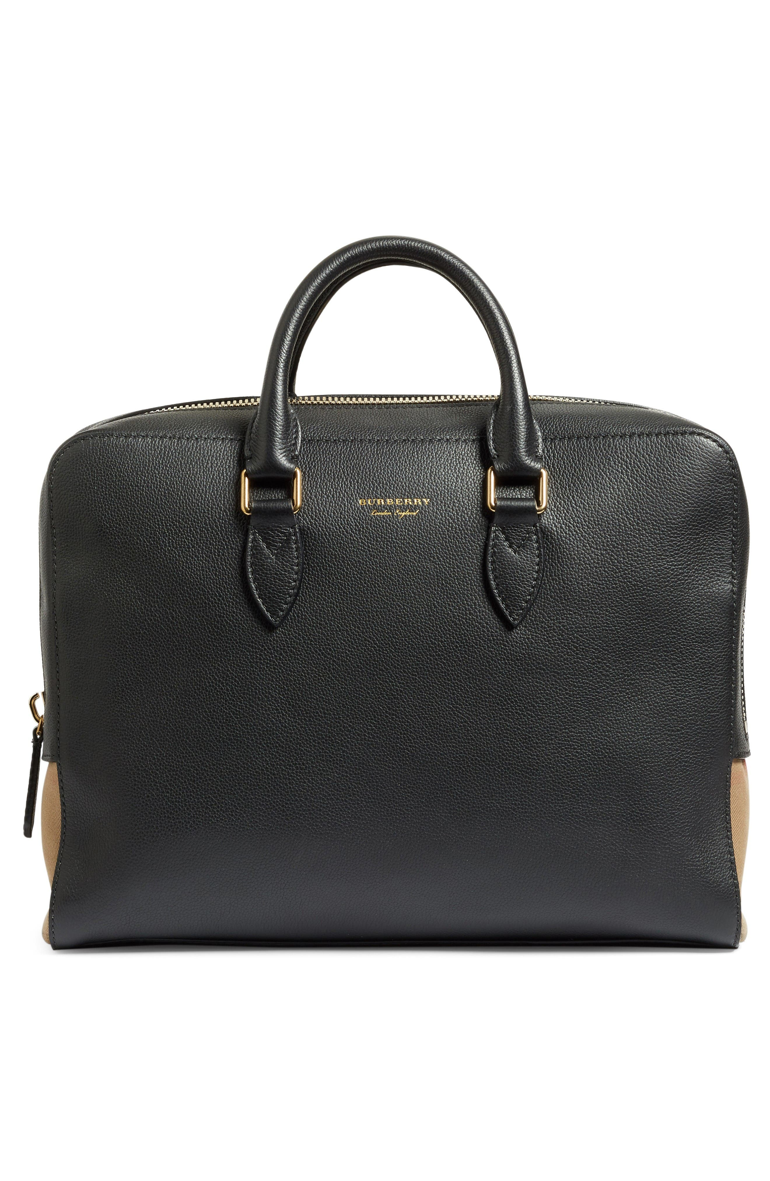 Alternate Image 2  - Burberry Horton Leather Briefcase