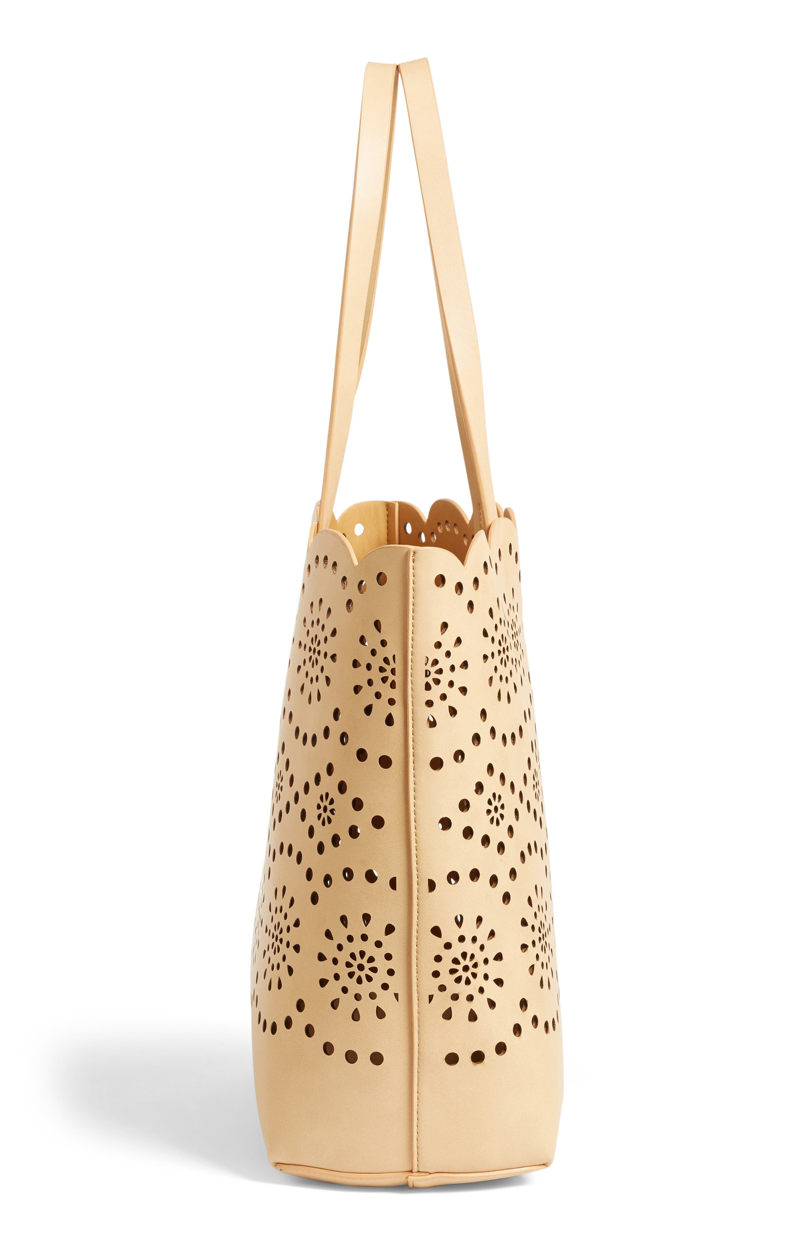 Alternate Image 5  - Chelsea28 Lily Scallop Faux Leather Tote