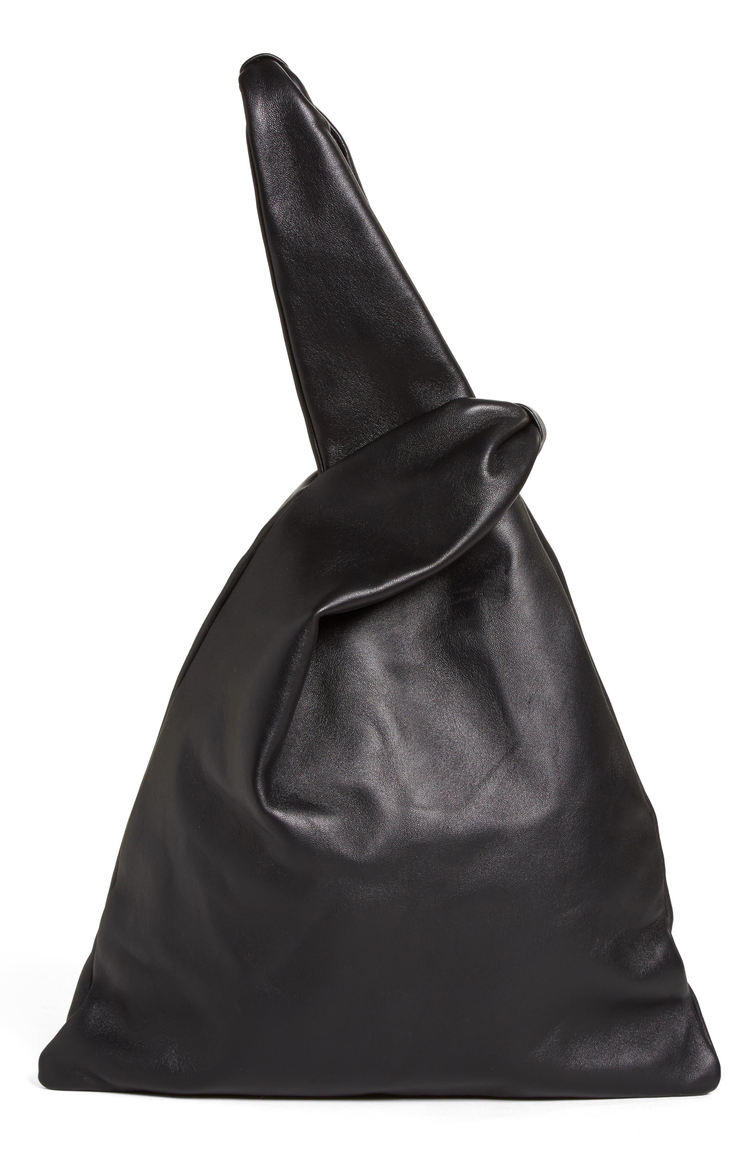 Large Nappa Leather Malia Bag,                             Alternate thumbnail 3, color,                             Black