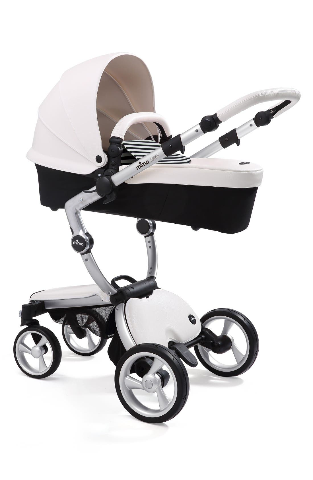 Xari Aluminum Chassis Stroller with Reversible Reclining Seat & Carrycot,                             Alternate thumbnail 2, color,                             Black / Black And White
