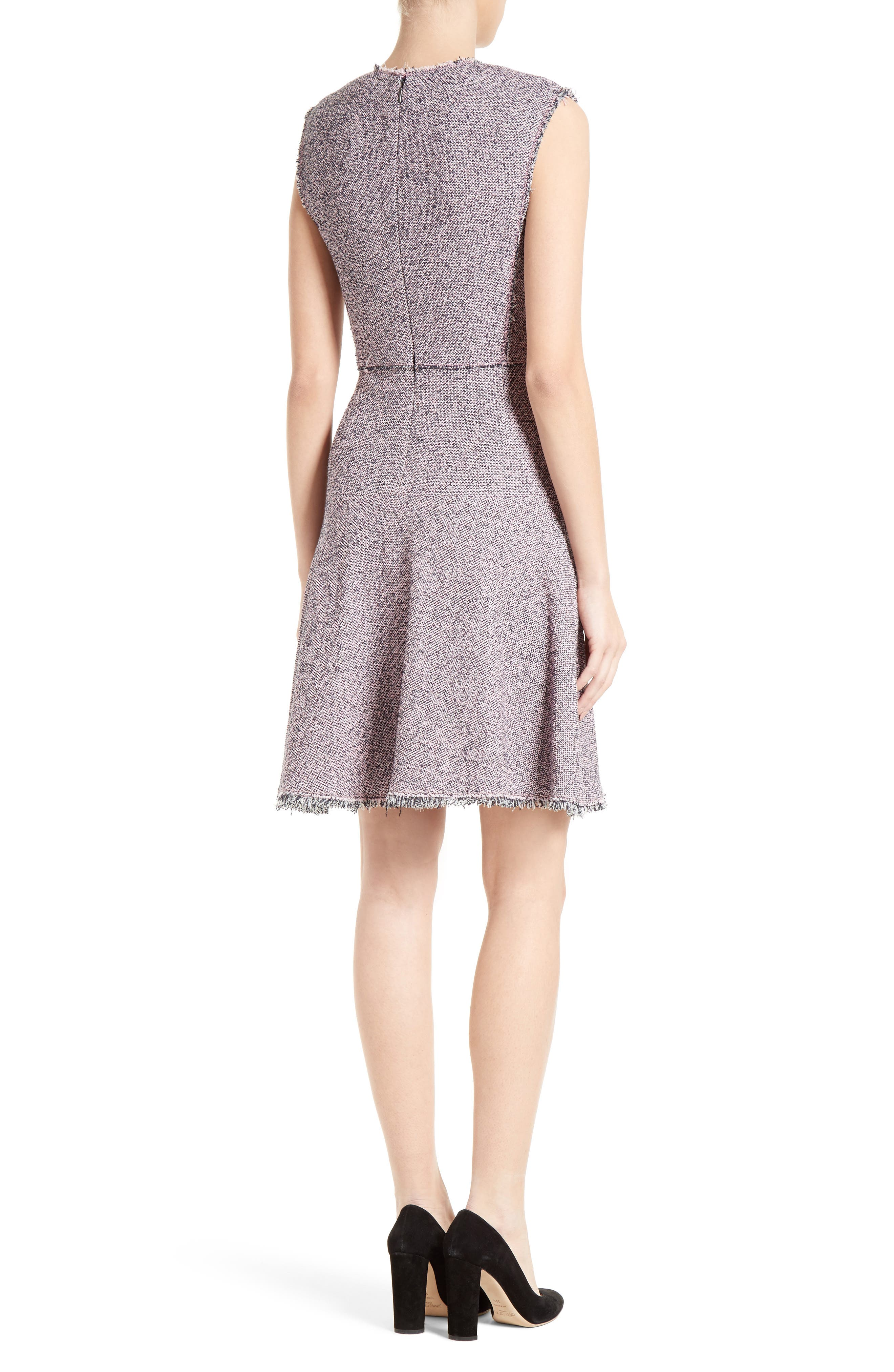 Alternate Image 3  - Rebecca Taylor Stretch Tweed Fit & Flare Dress
