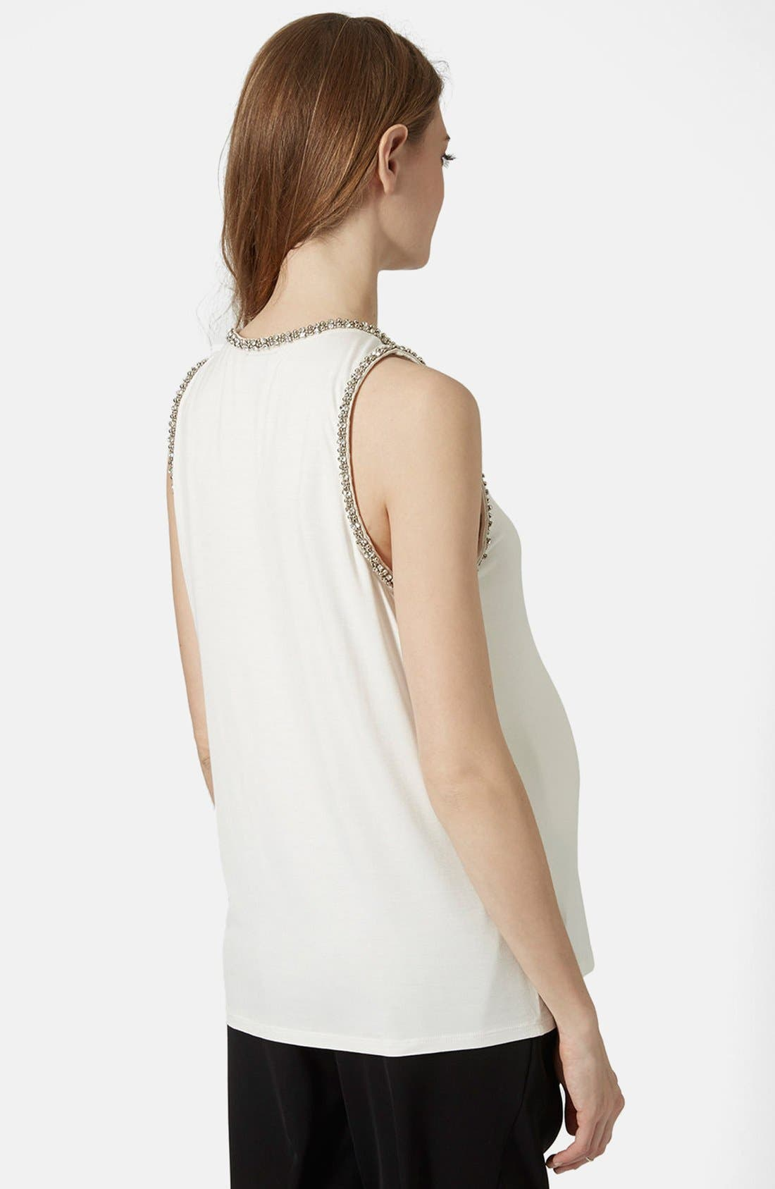Alternate Image 2  - Topshop Gem Embellished Maternity Tank Top
