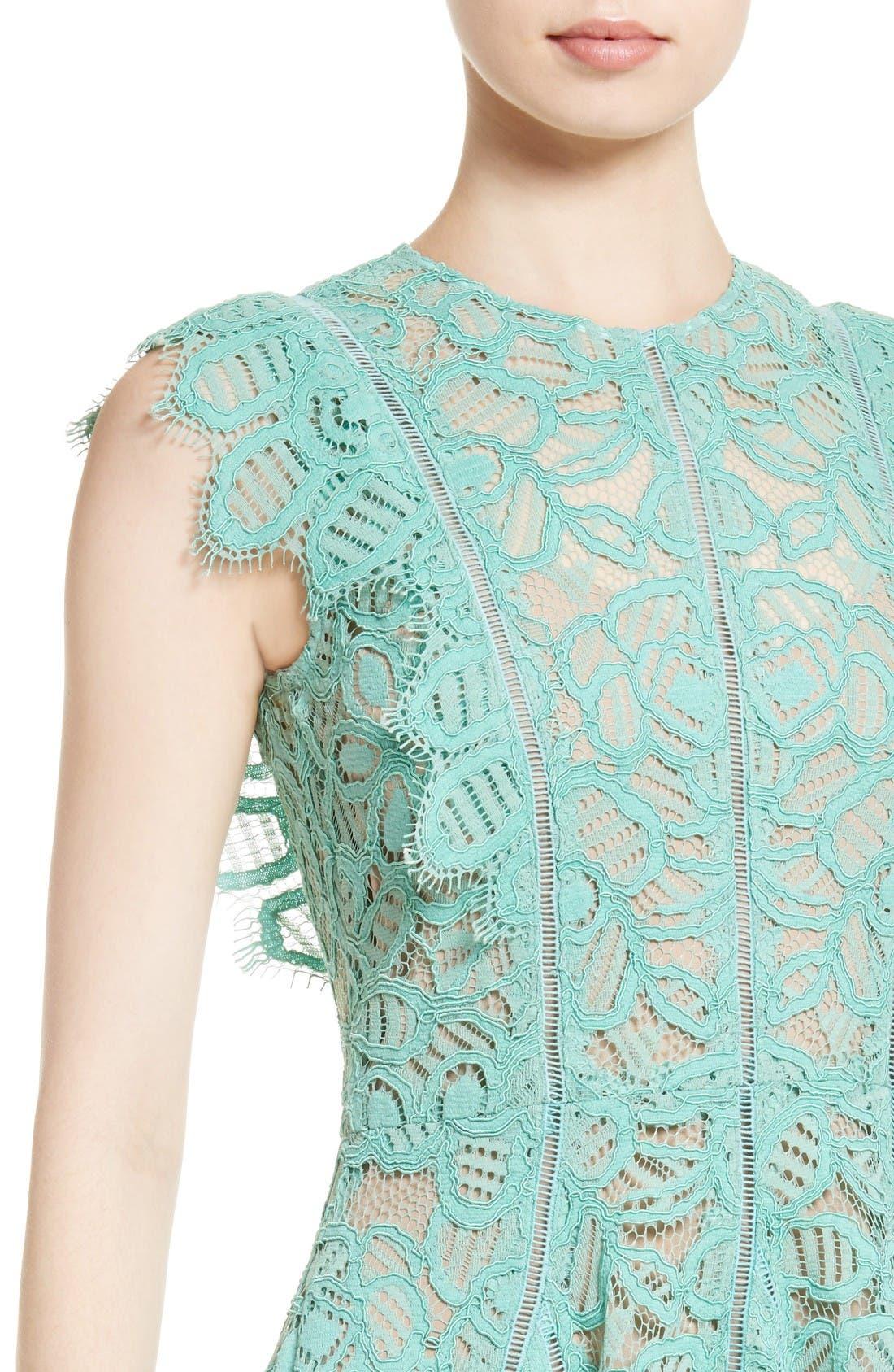 Alternate Image 6  - Lela Rose Lace Fit & Flare Dress