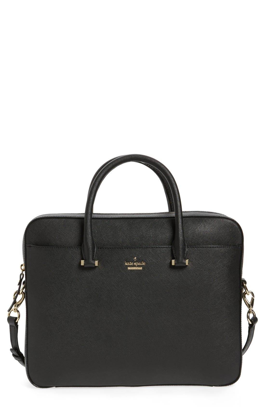 Main Image - kate spade new york saffiano leather 13 inch laptop bag
