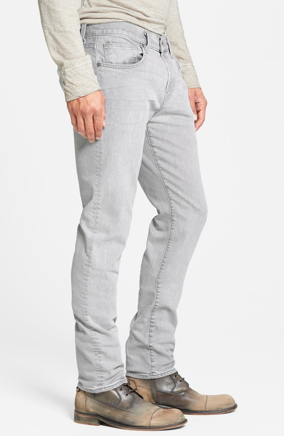 Alternate Image 3  - 7 For All Mankind® 'Paxtyn' Slim Straight Leg Jeans (Clean Grey)