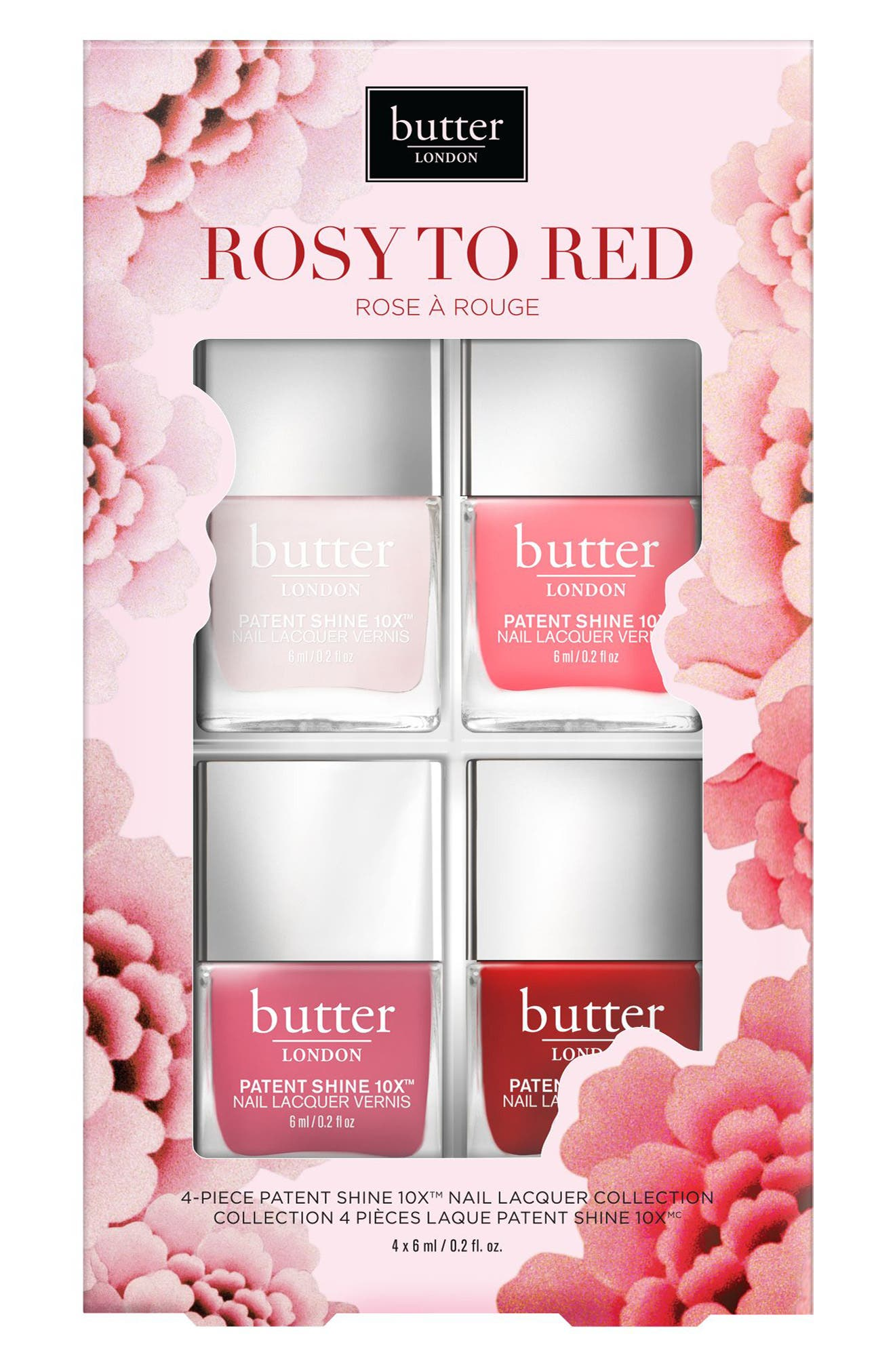 Rosy to Red Patent Shine 10x<sup>™</sup> Nail Lacquer Set,                         Main,                         color, Rosy To Red