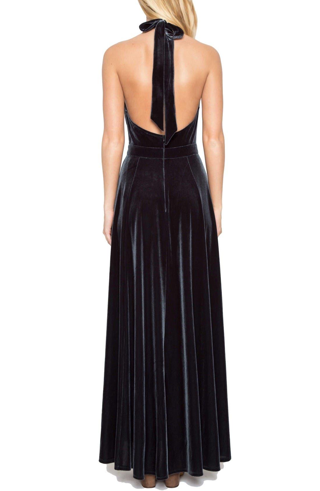 Alternate Image 2  - Willow & Clay Velvet Maxi Dress