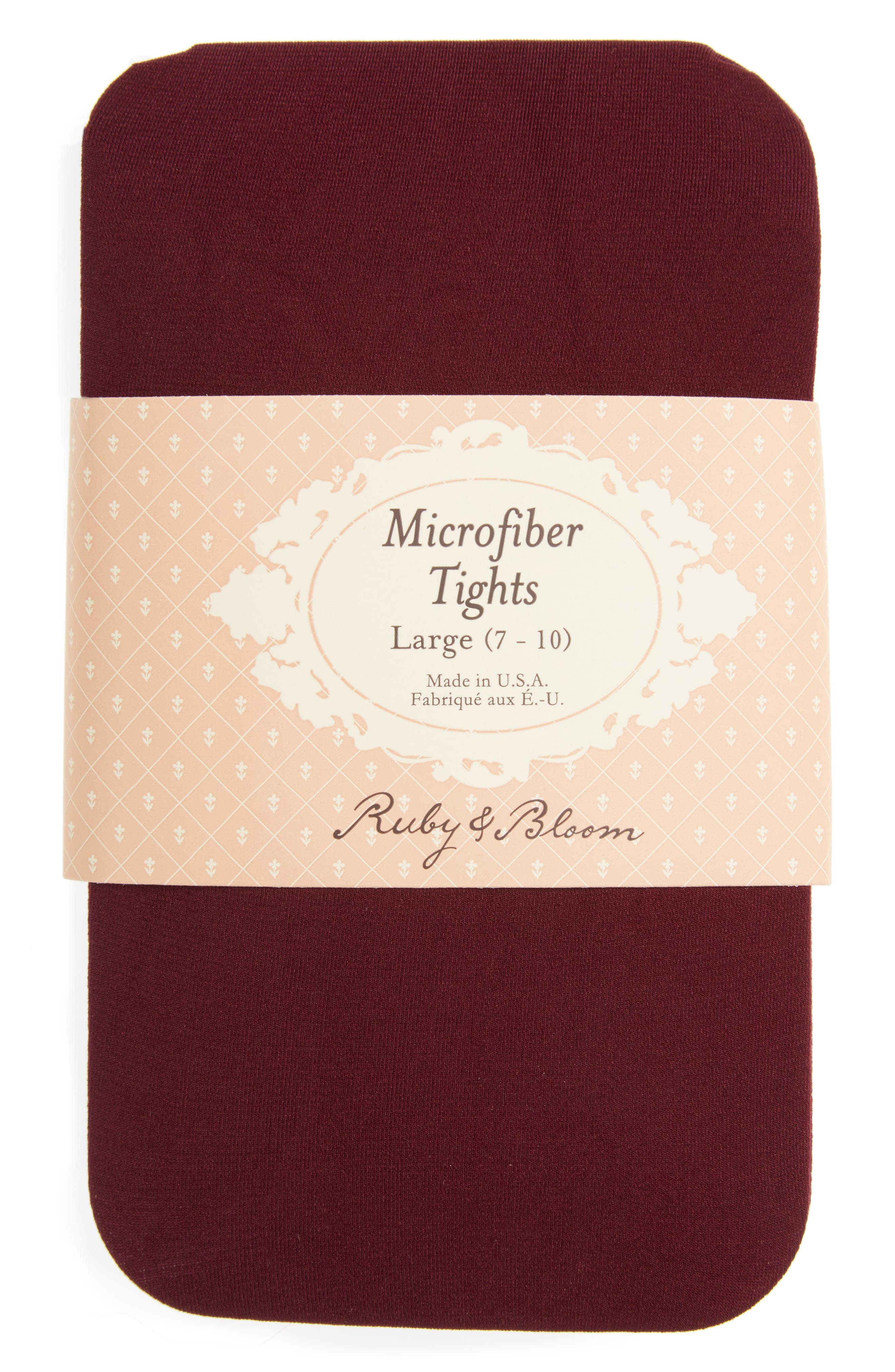 Alternate Image 2  - Ruby & Bloom 'So Fine' Microfiber Tights (Toddler Girls, Little Girls & Big Girls)