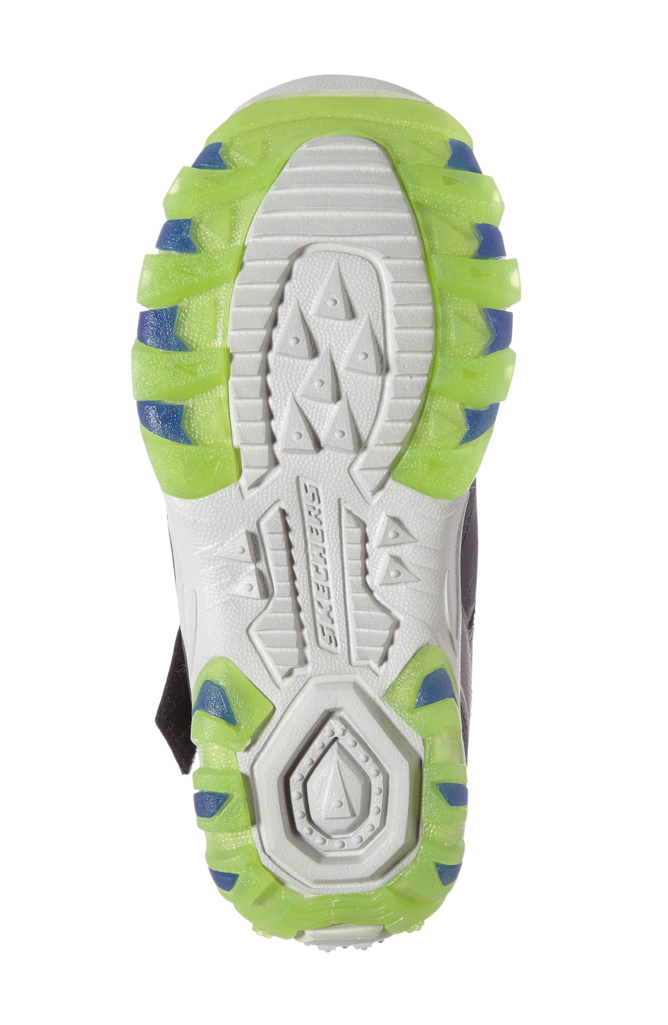 Magic Lites - Street Lightz 2.0 Light-Up Sneaker,                             Alternate thumbnail 4, color,                             Black/ Green
