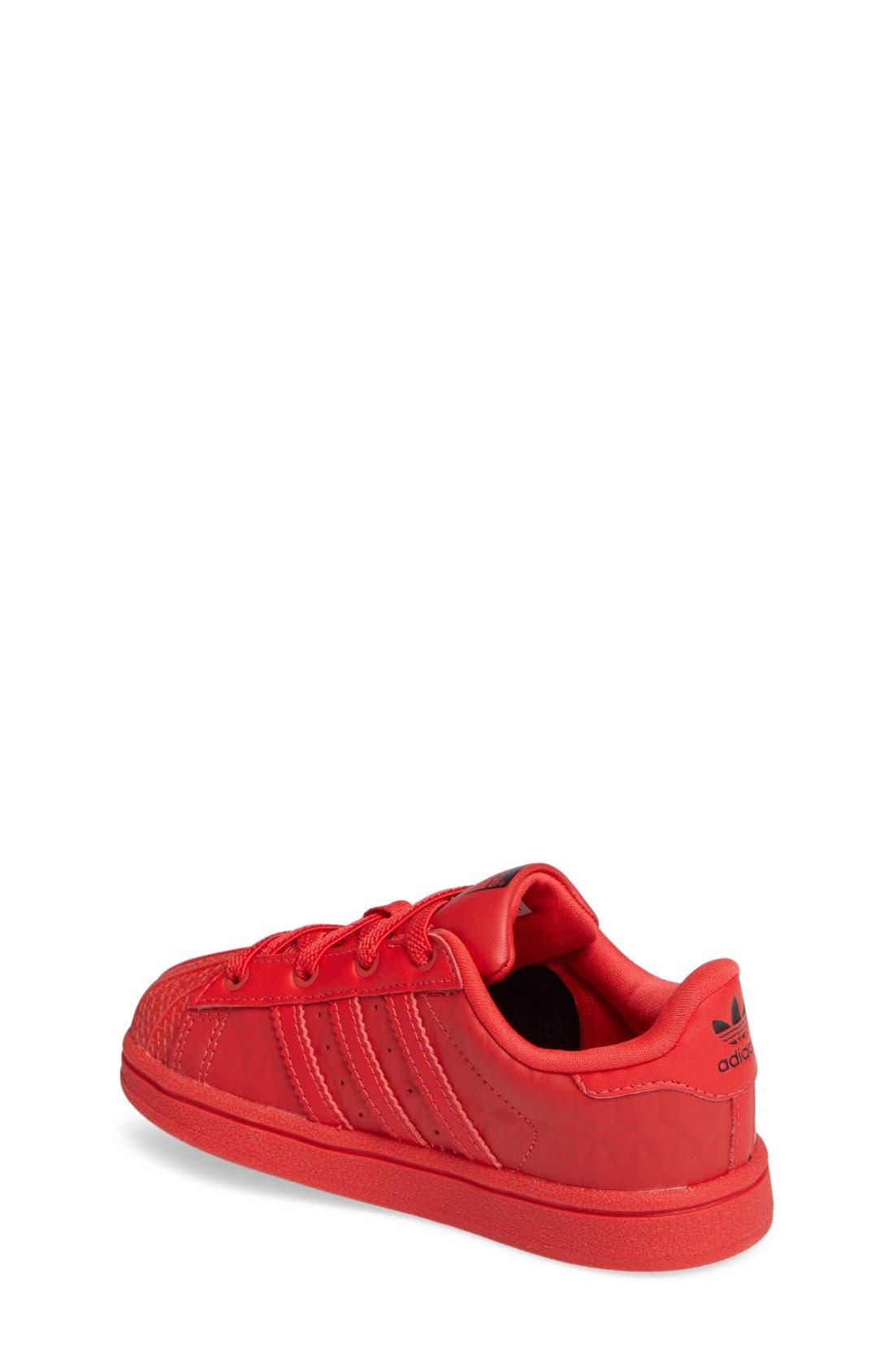 Alternate Image 2  - adidas Superstar Sneaker (Baby, Walker & Toddler)